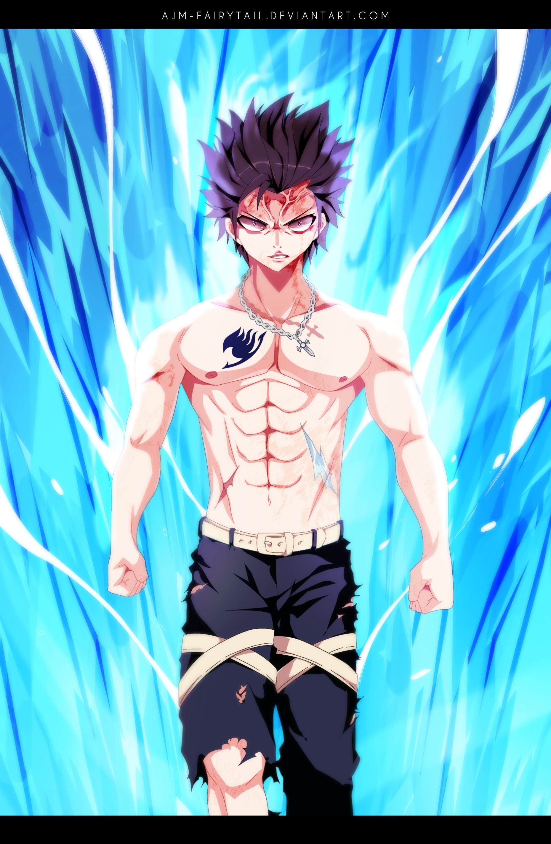 1860x2848 Tags: Anime, AJM-FairyTail, FAIRY TAIL, Gray Fullbuster, Colorization,