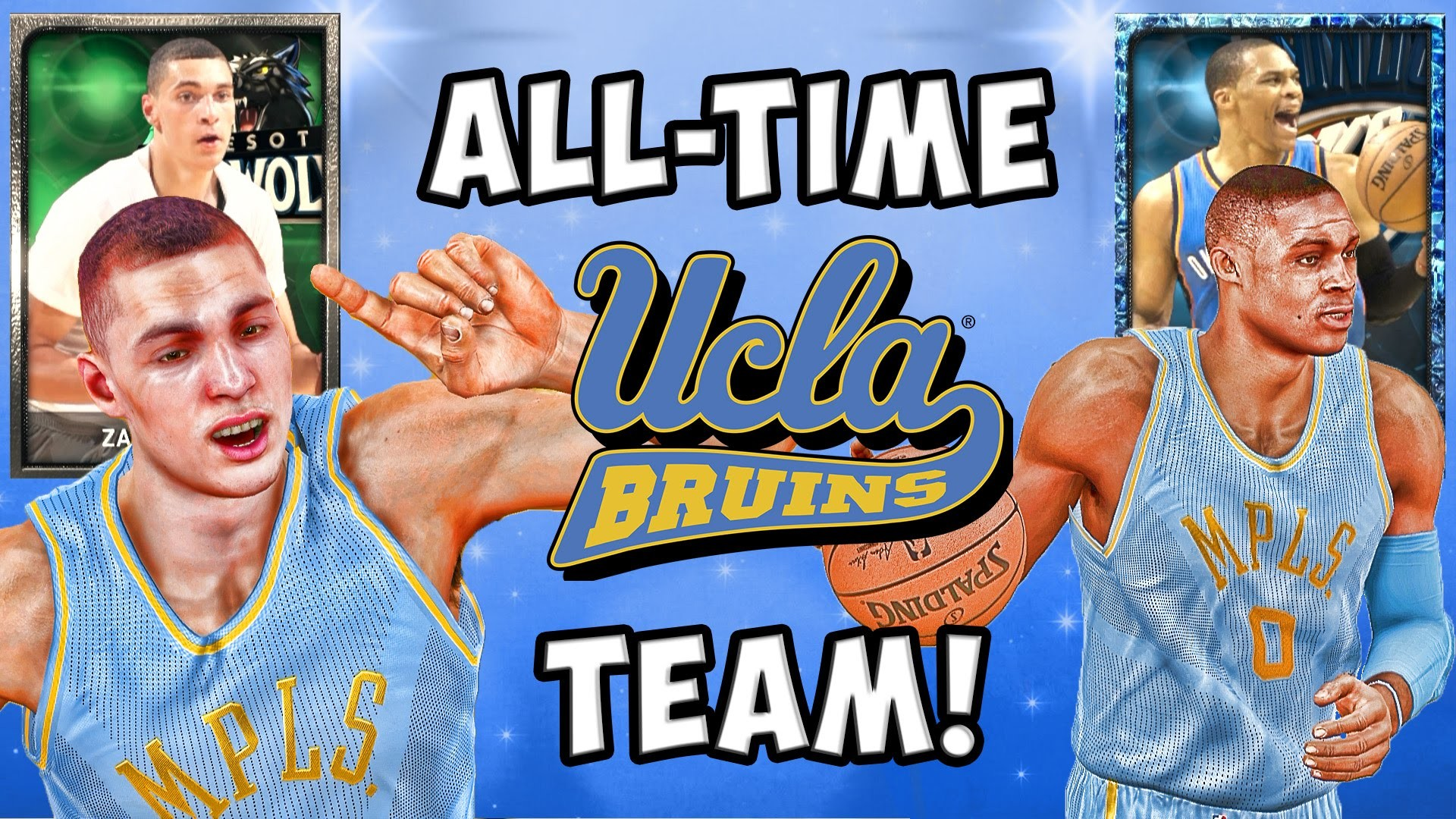 1920x1080 NBA 2K15 MyTeam Gameplay - All-Time UCLA Bruins Team! Sapphire Russell  Westbrook and Zach Lavine!