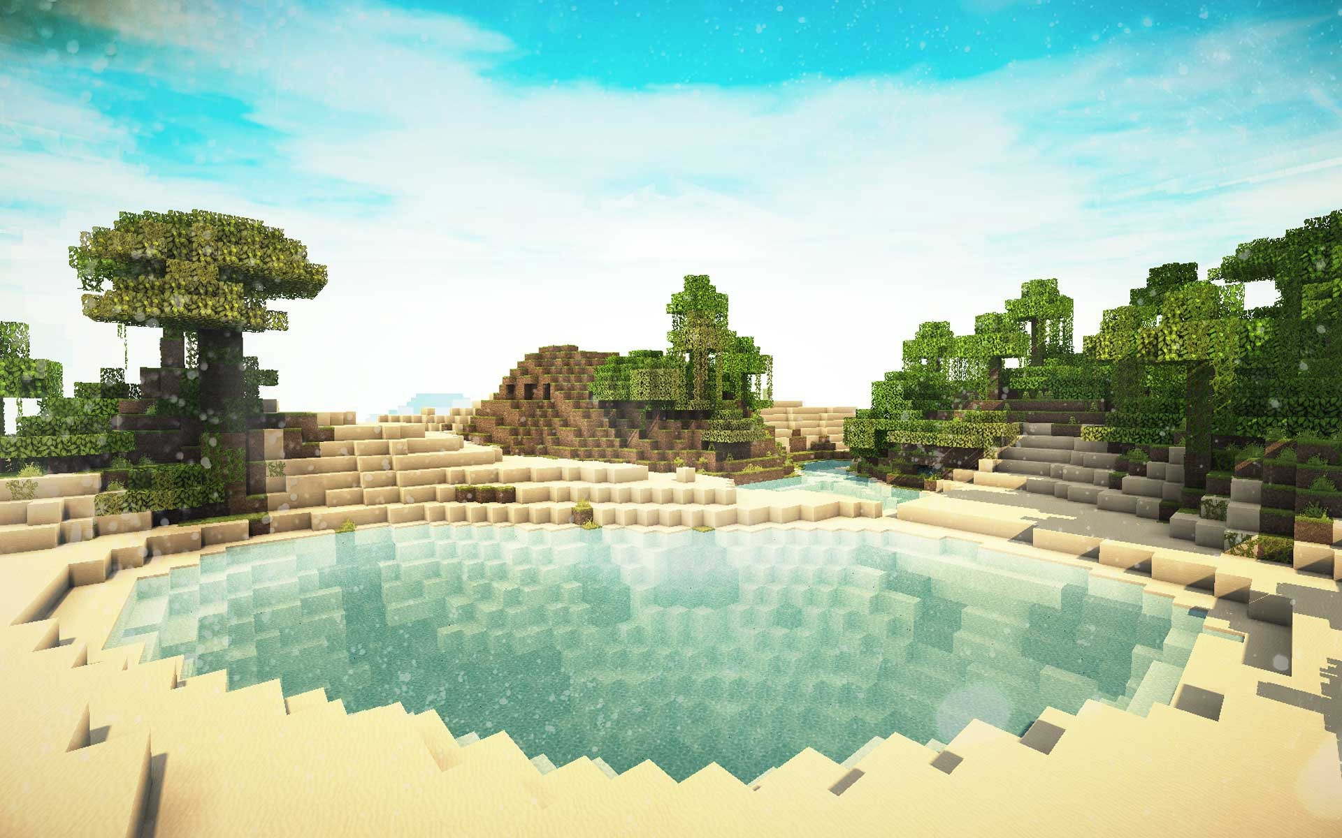 1920x1200  Minecraft with Shaders HD desktop wallpaper : High Definition  1440×837 Minecraft shaders background (