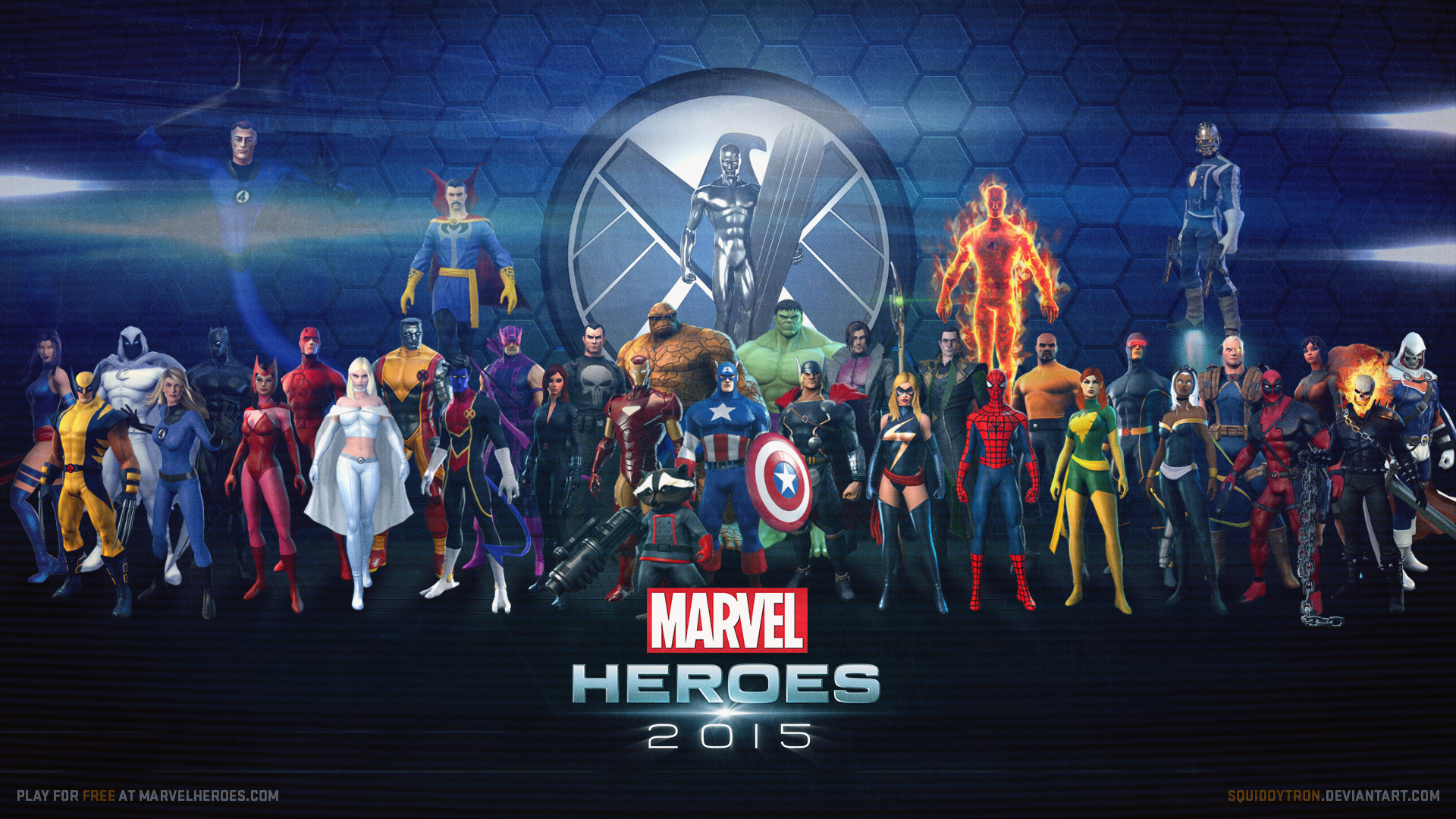 All marvel characters wallpaper 61 images 1920x1080 marvel heroes wallpaper updated w star lord voltagebd Image collections