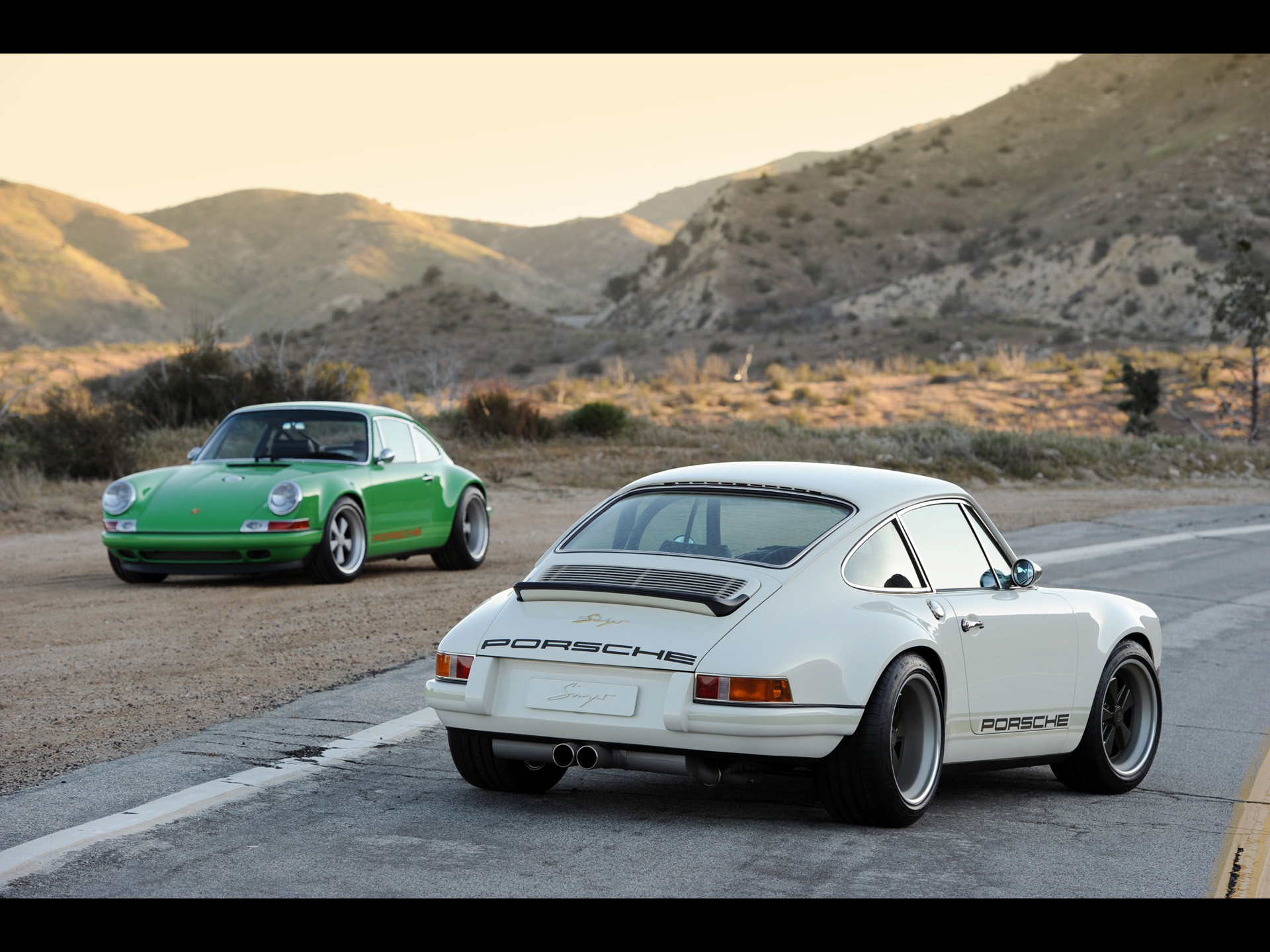 1920x1440 Singer Porsche 911 White Duo - Cars Wallpapers | Best HD Wallpapers .
