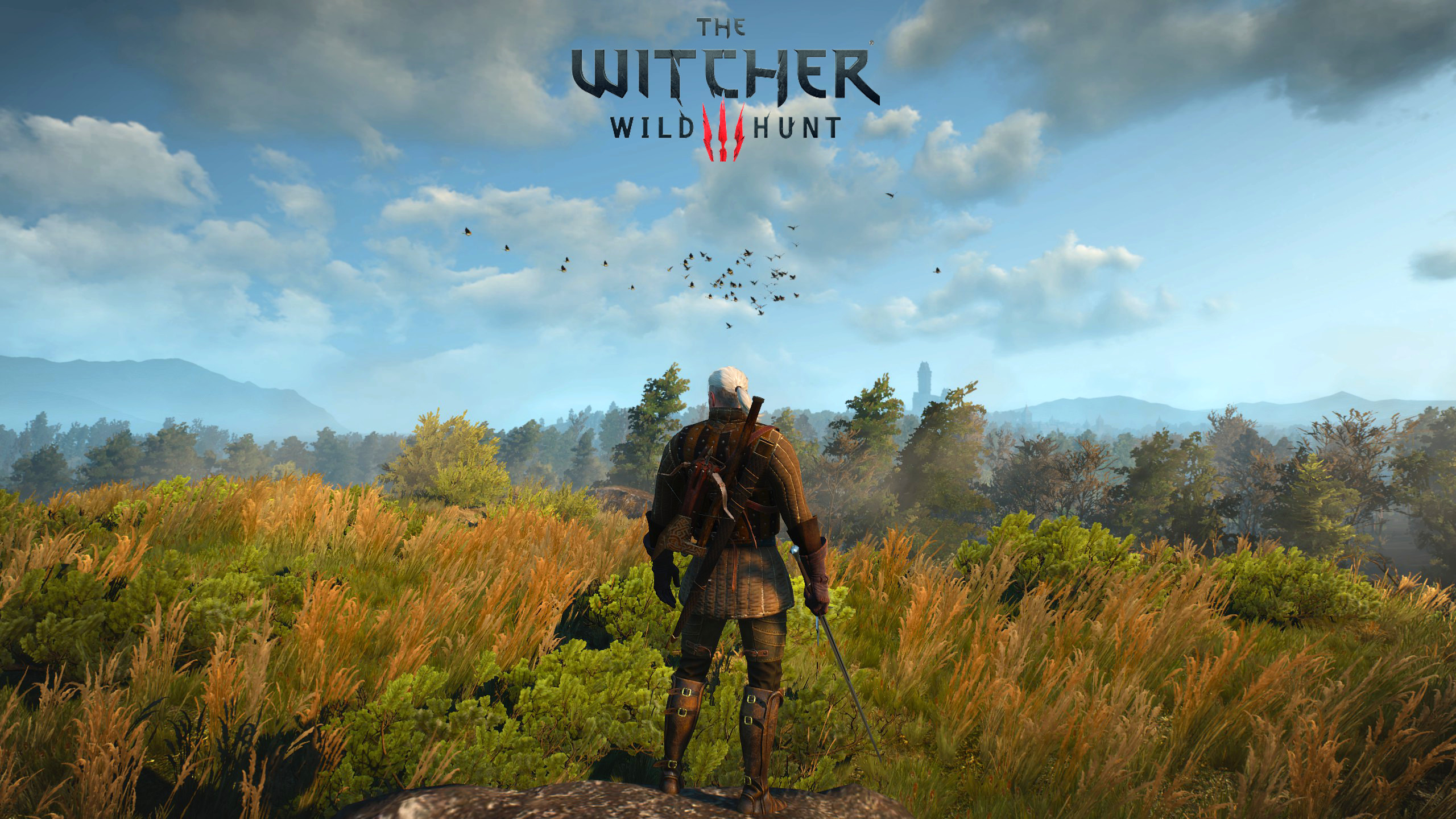 2560x1440 Created 4 Minimal Witcher 3 Wallpapers [1440p] 1080p in Comments : witcher