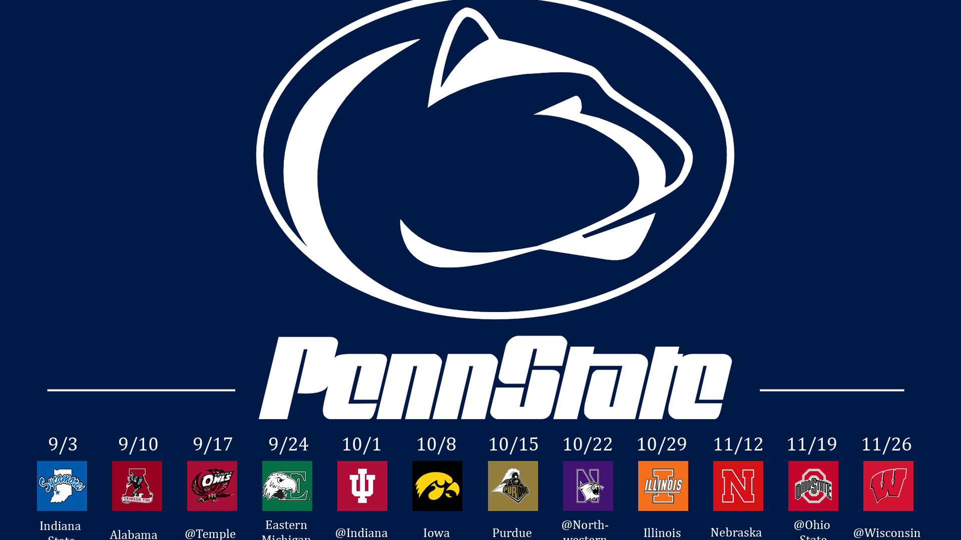 1920x1080 college football penn state