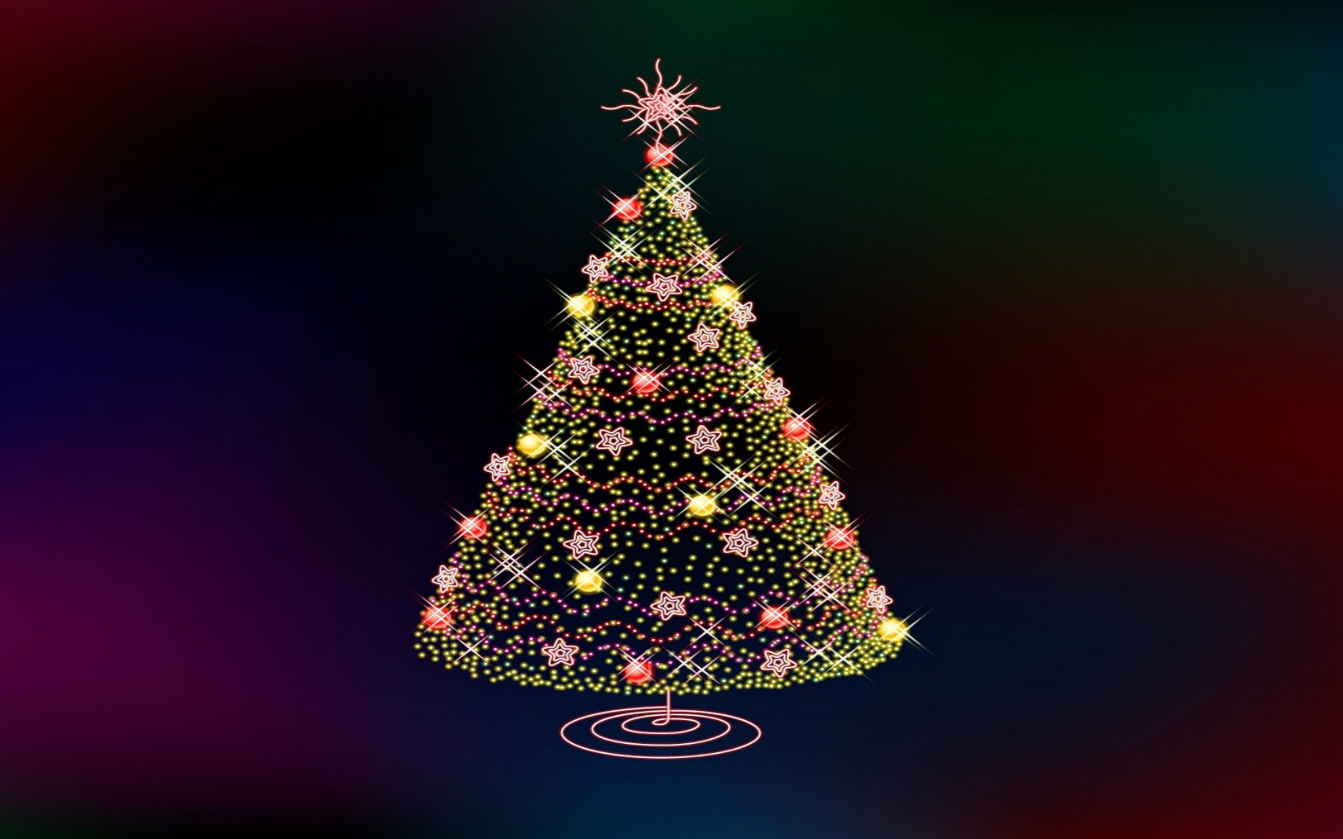 1920x1080 3D Christmas Countdown Tree For IPhone 6 Plus 5s IPad