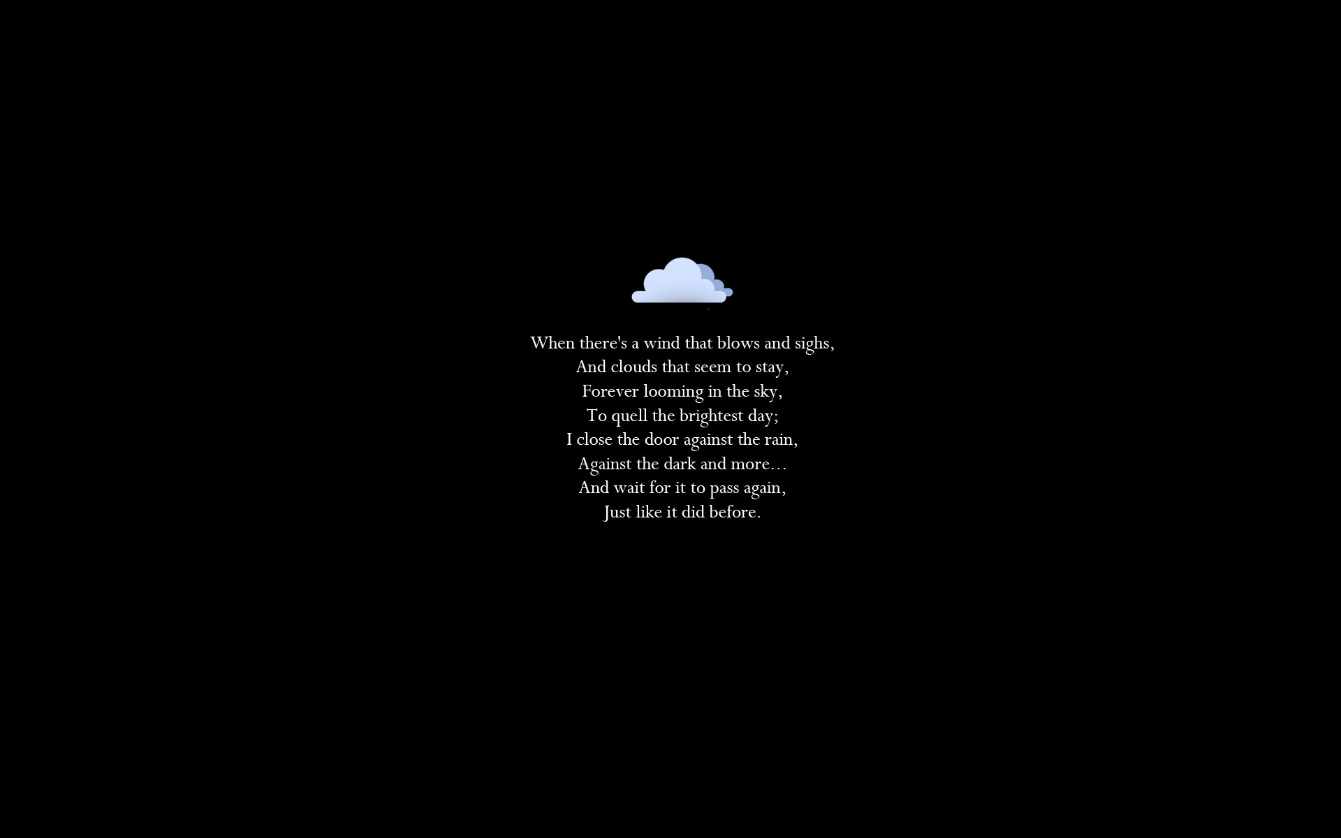 1920x1200 mood rain waiting storm poem wallpaper