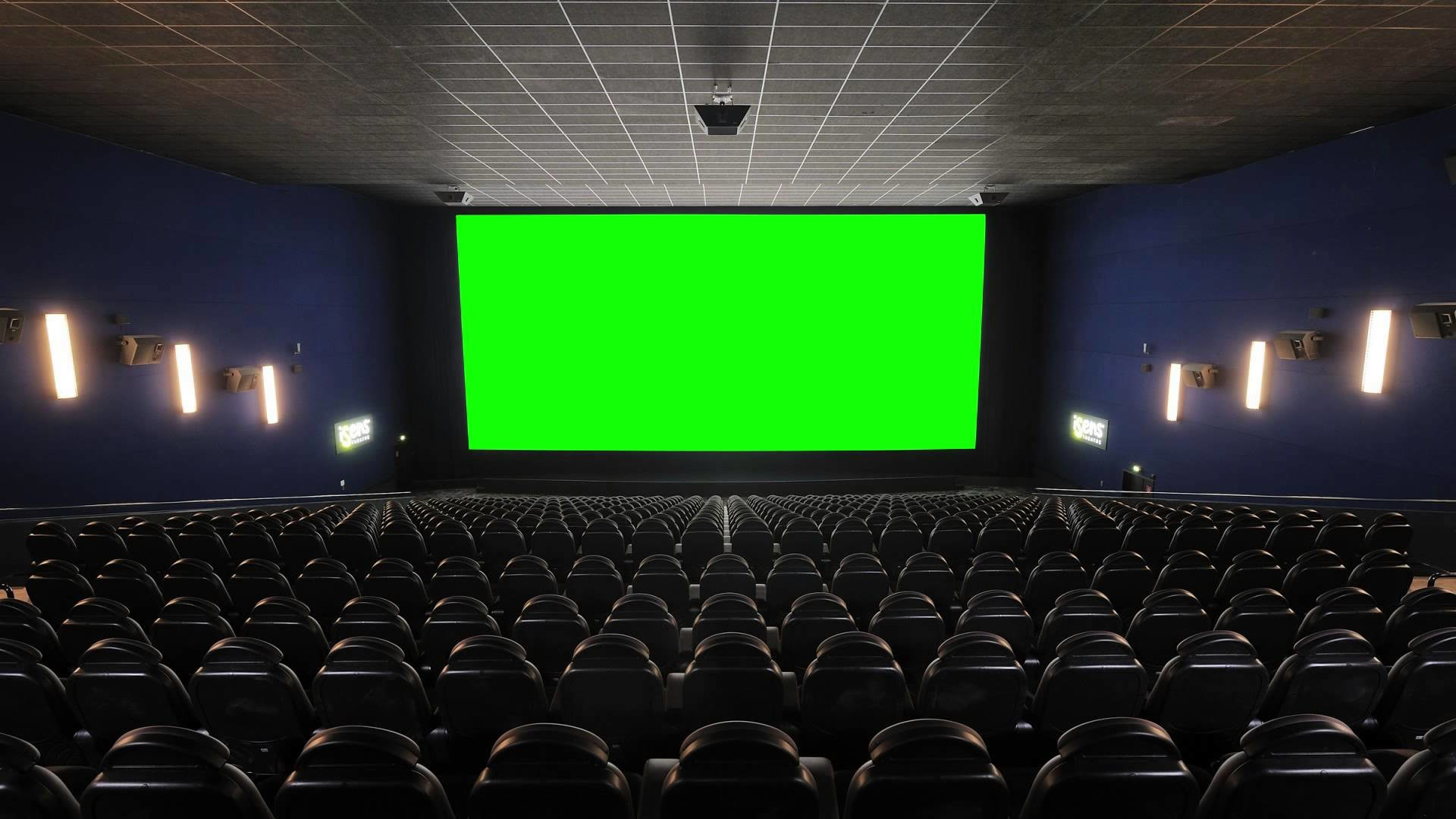 1920x1080 Cinema (Movie Theater, Movie House) with green screen - FreeHDGreenscreen  Footage - YouTube
