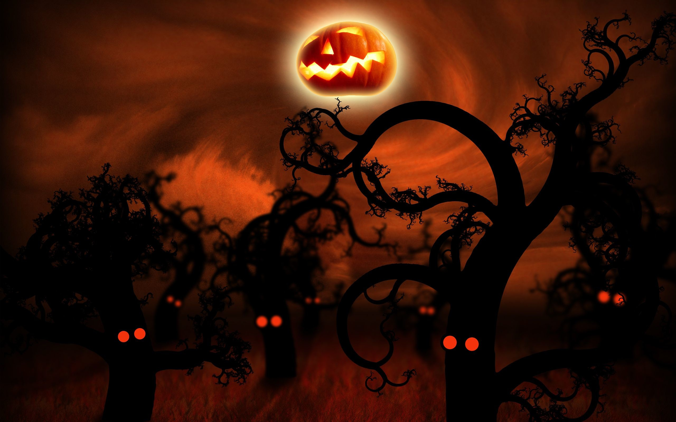 2560x1600 Halloween Wide Screen Wallpaper HD.
