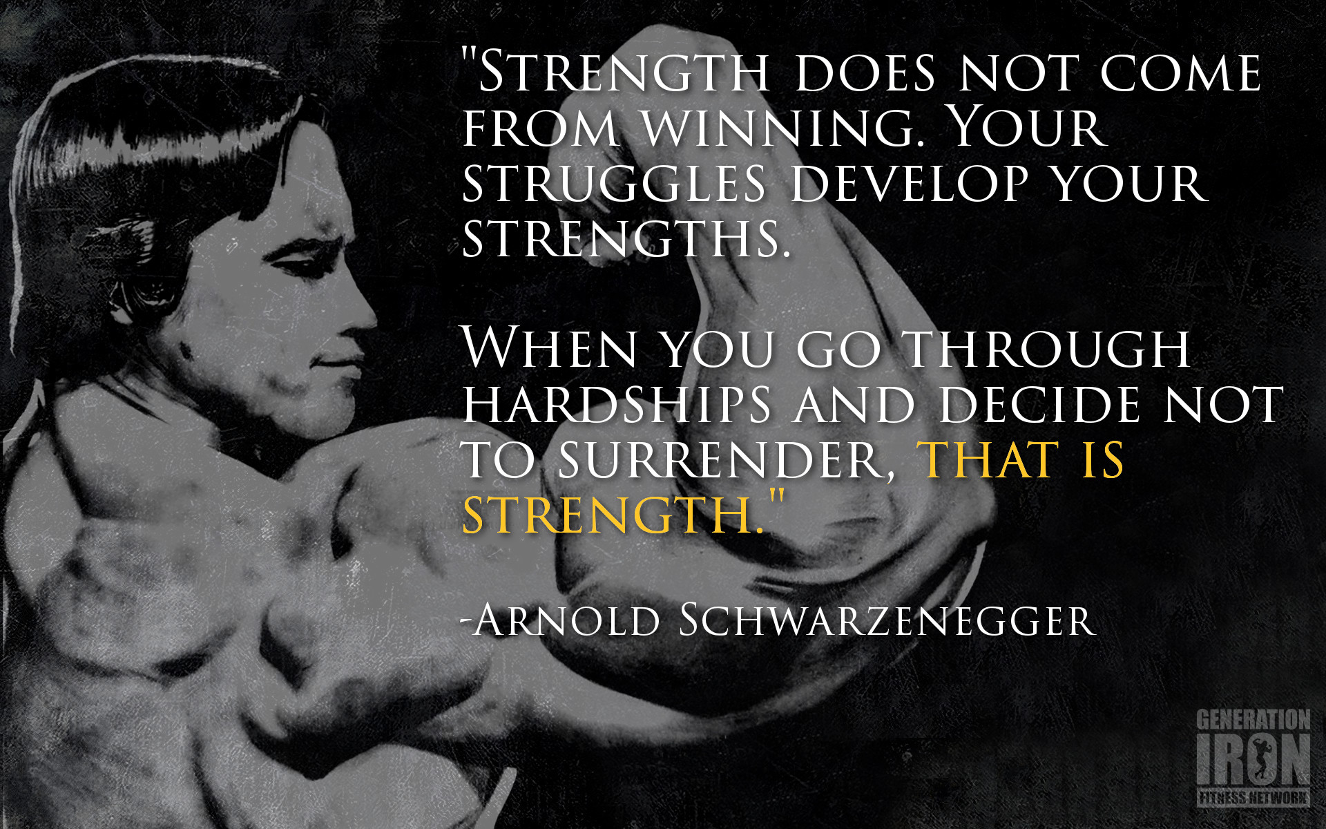 Arnold motivational wallpapers 79 images 1920x1200 generation iron arnold schwarzenegger quote of the week 3 malvernweather Image collections