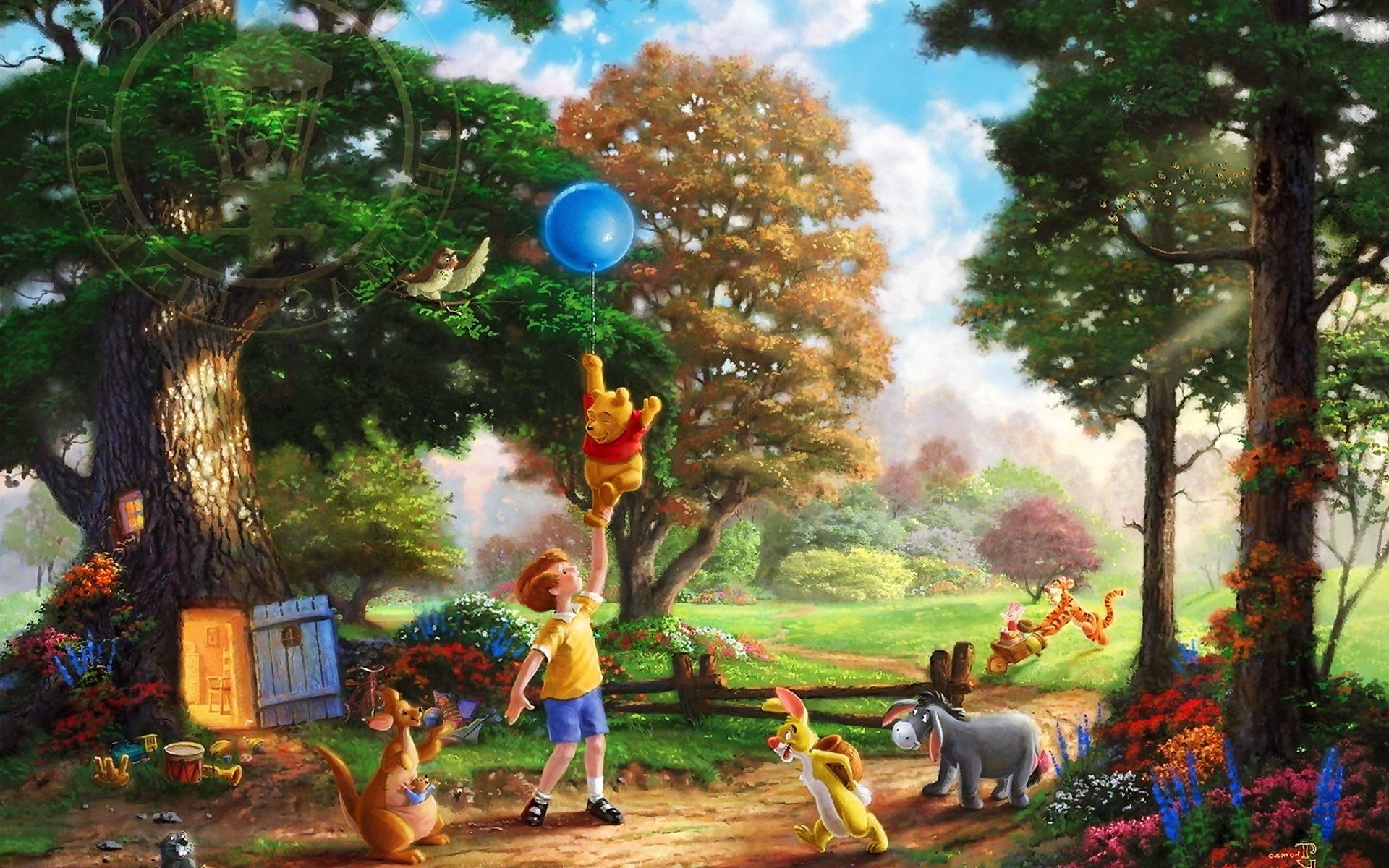 1920x1200 Winnie The Pooh Thomas Kinkade Wallpaper,Images,Pictures,Photos,HD  Wallpapers