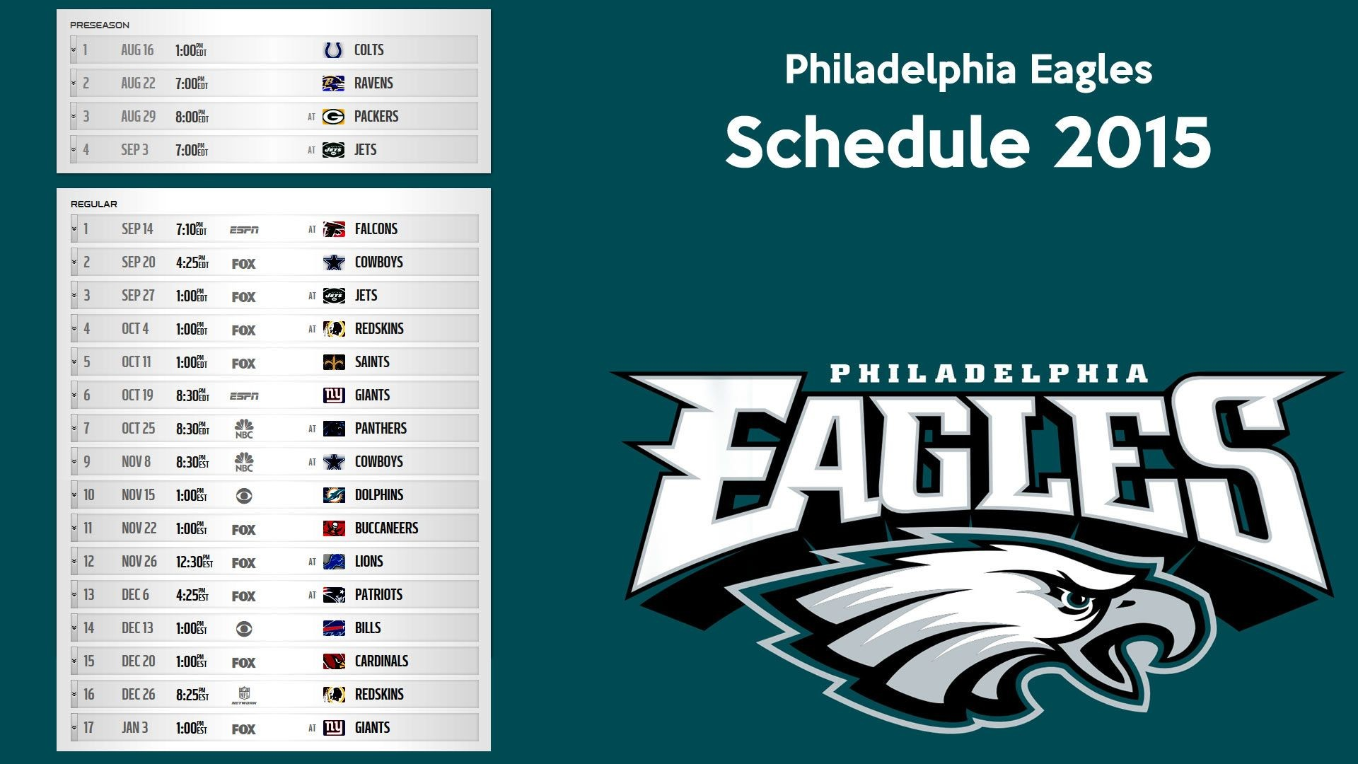 1920x1080 Philadelphia Eagles schedule 2015 wallpaper – Free full hd .