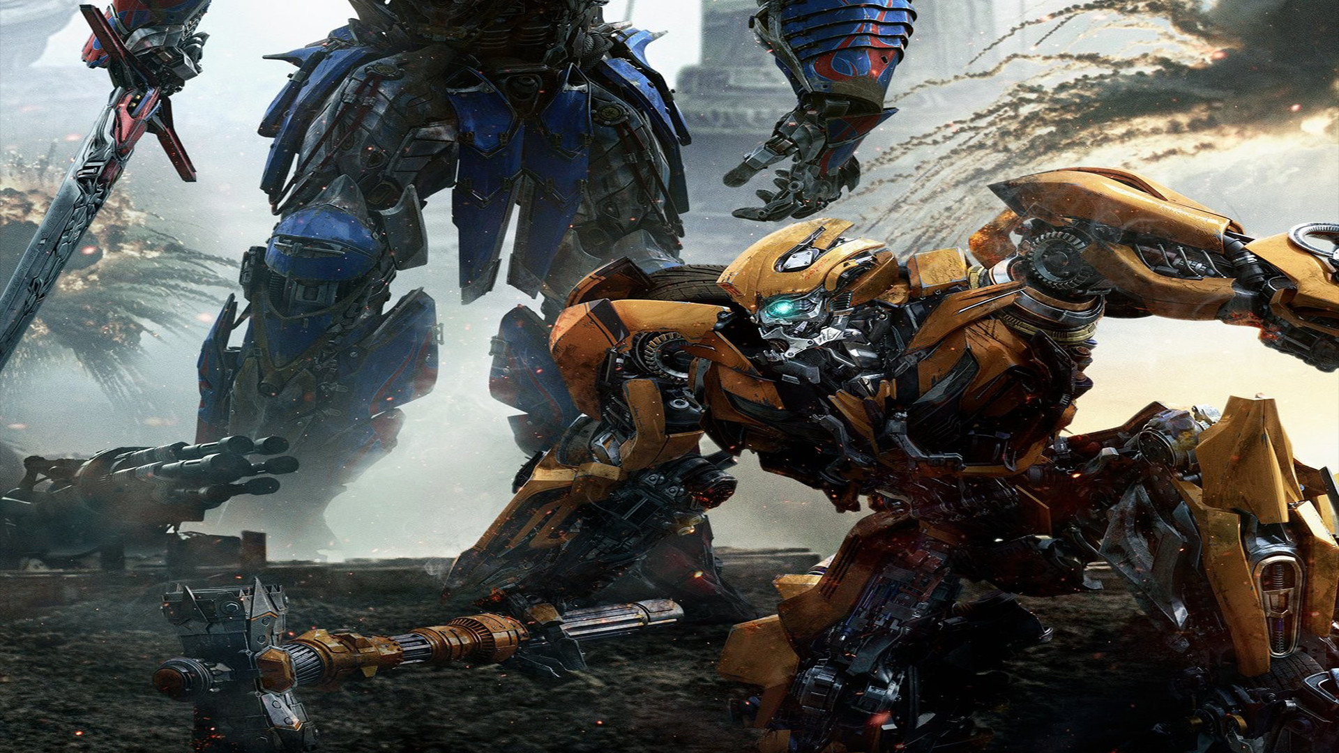 1920x1080 ... The Last Knight Optimus vs Bumblebee wallpaper by The-Dark-Mamba-995