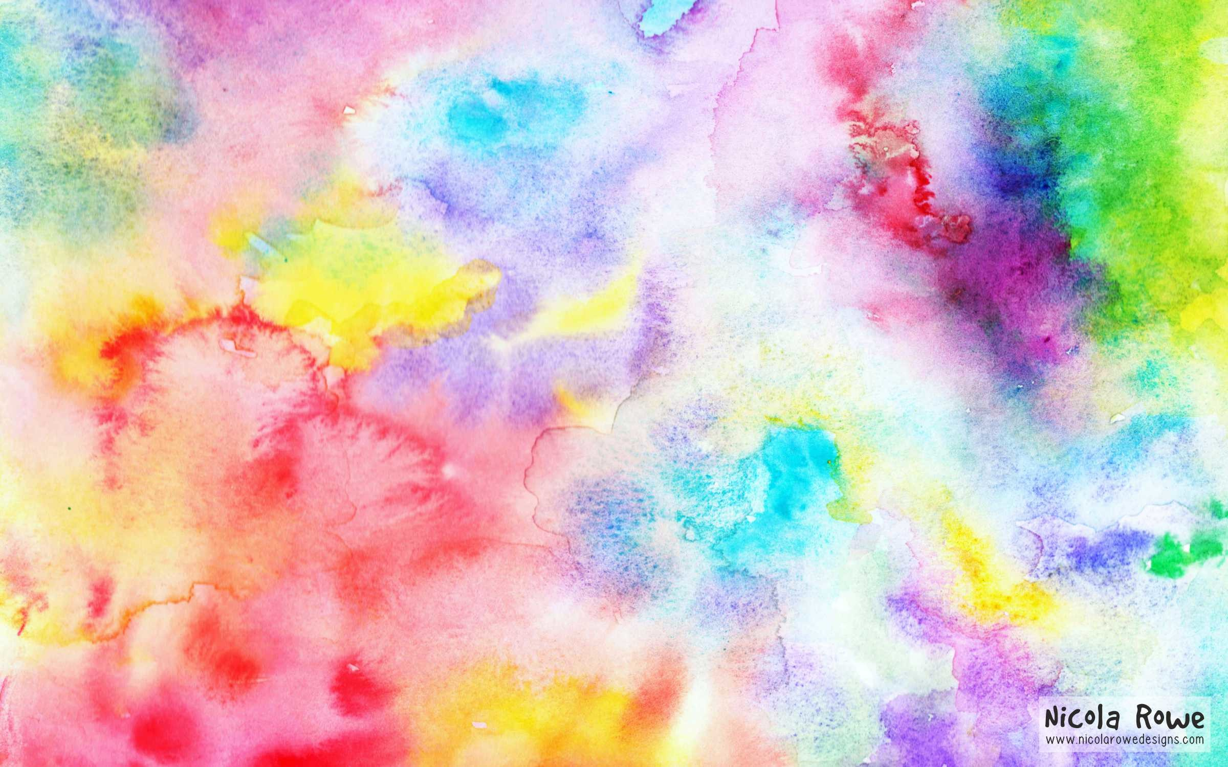 2400x1500 Watercolour wallpaper Nicola Rowe designs