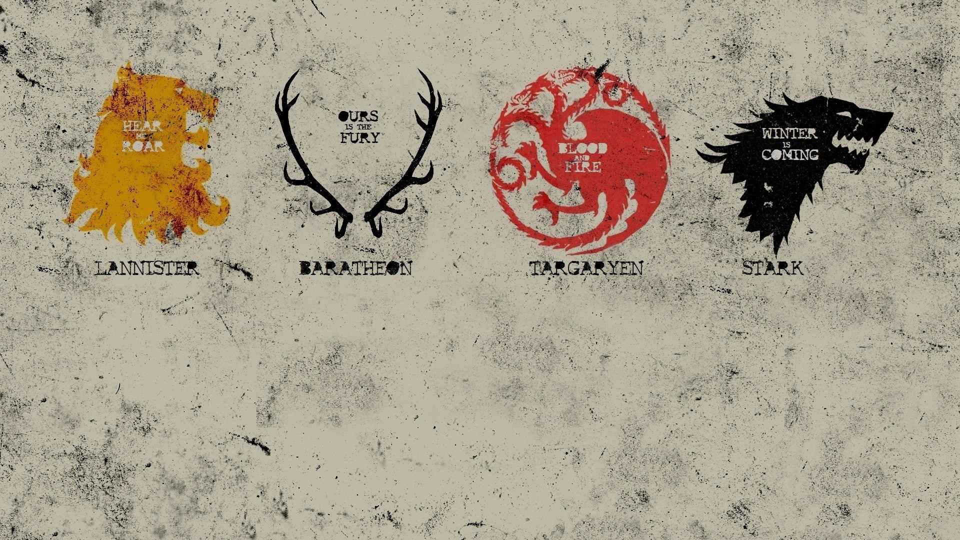 1920x1080 Game Of Thrones, House Stark, House Targaryen, House Lannister, House  Baratheon, Sigils Wallpapers HD / Desktop and Mobile Backgrounds
