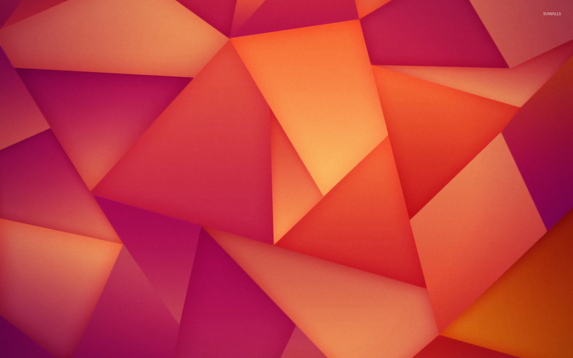 1920x1200 Orange and purple polygons wallpaper