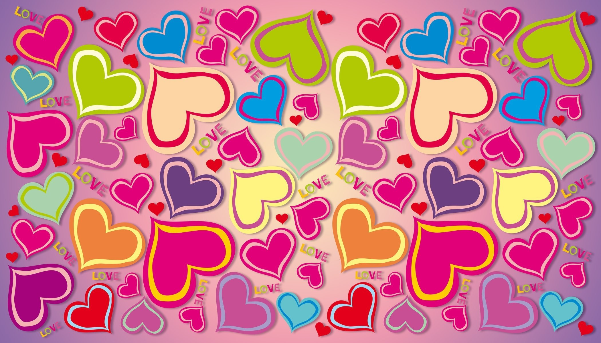 2100x1200 colorful rainbow hearts love gradient background heart love