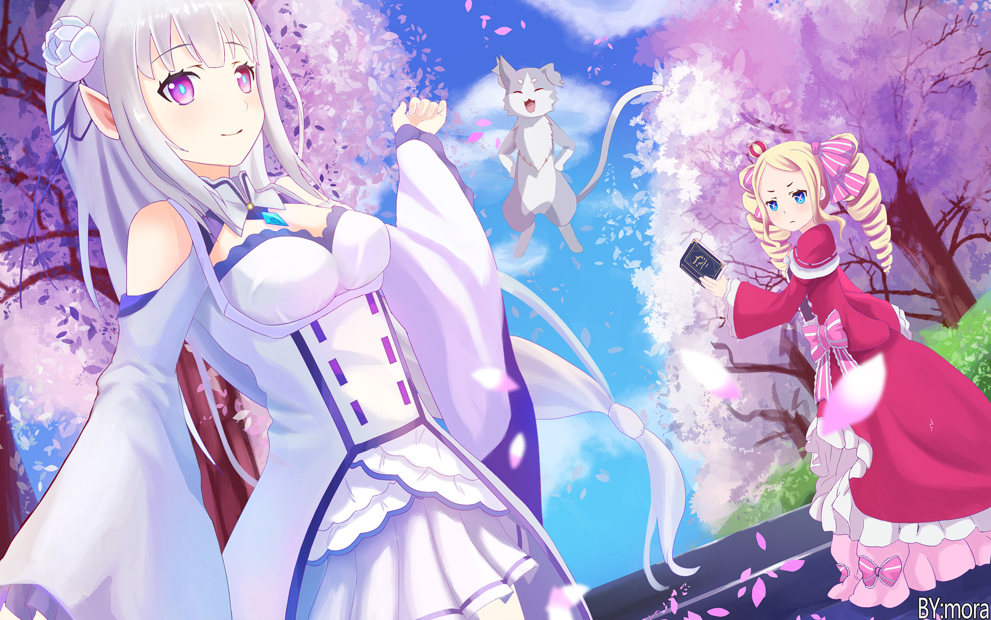 2000x1251 Anime - Re:ZERO -Starting Life in Another World- Emilia (Re: