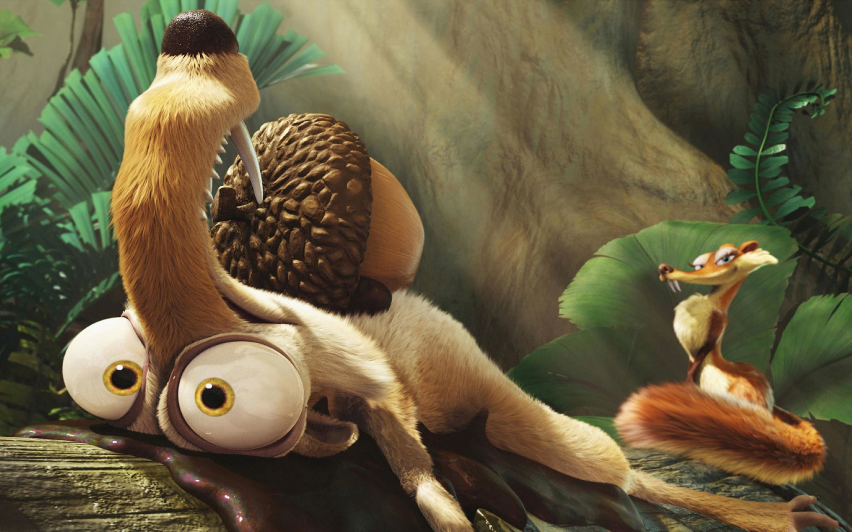 2880x1800 Ice Age: Dawn of the Dinosaurs, cartoon, gray, ice age, squirrel