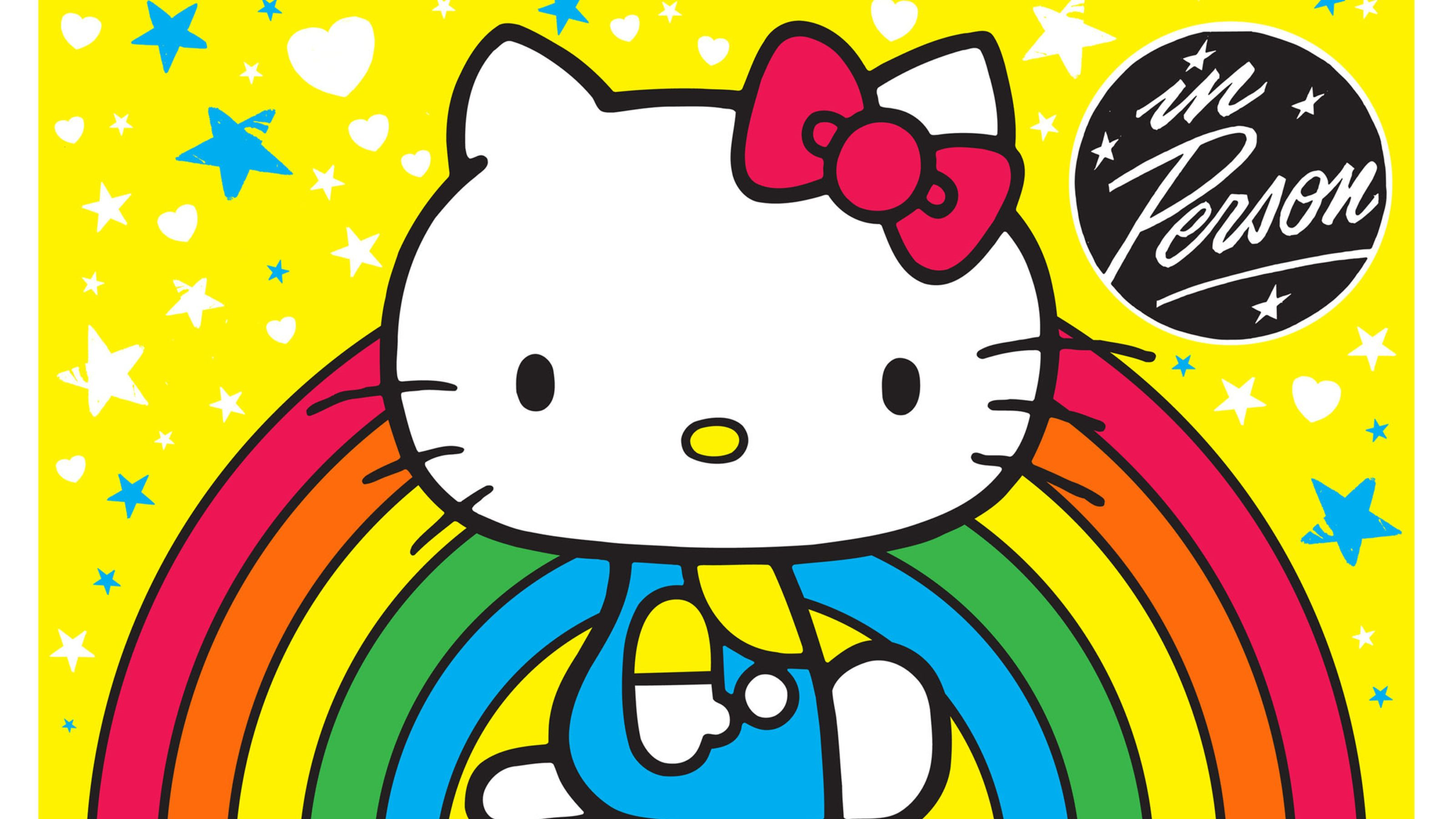 3200x1800 2560x1920 Hello Red Kitty Background Wallpaper