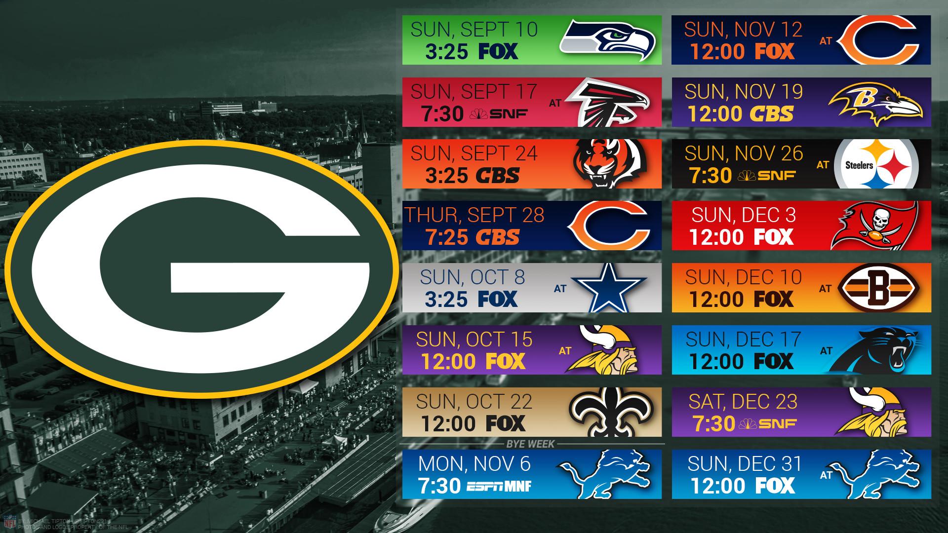 1920x1080 Green Bay Packers 2017 Schedule City Football Logo Wallpaper Free Pc Desktop Computer