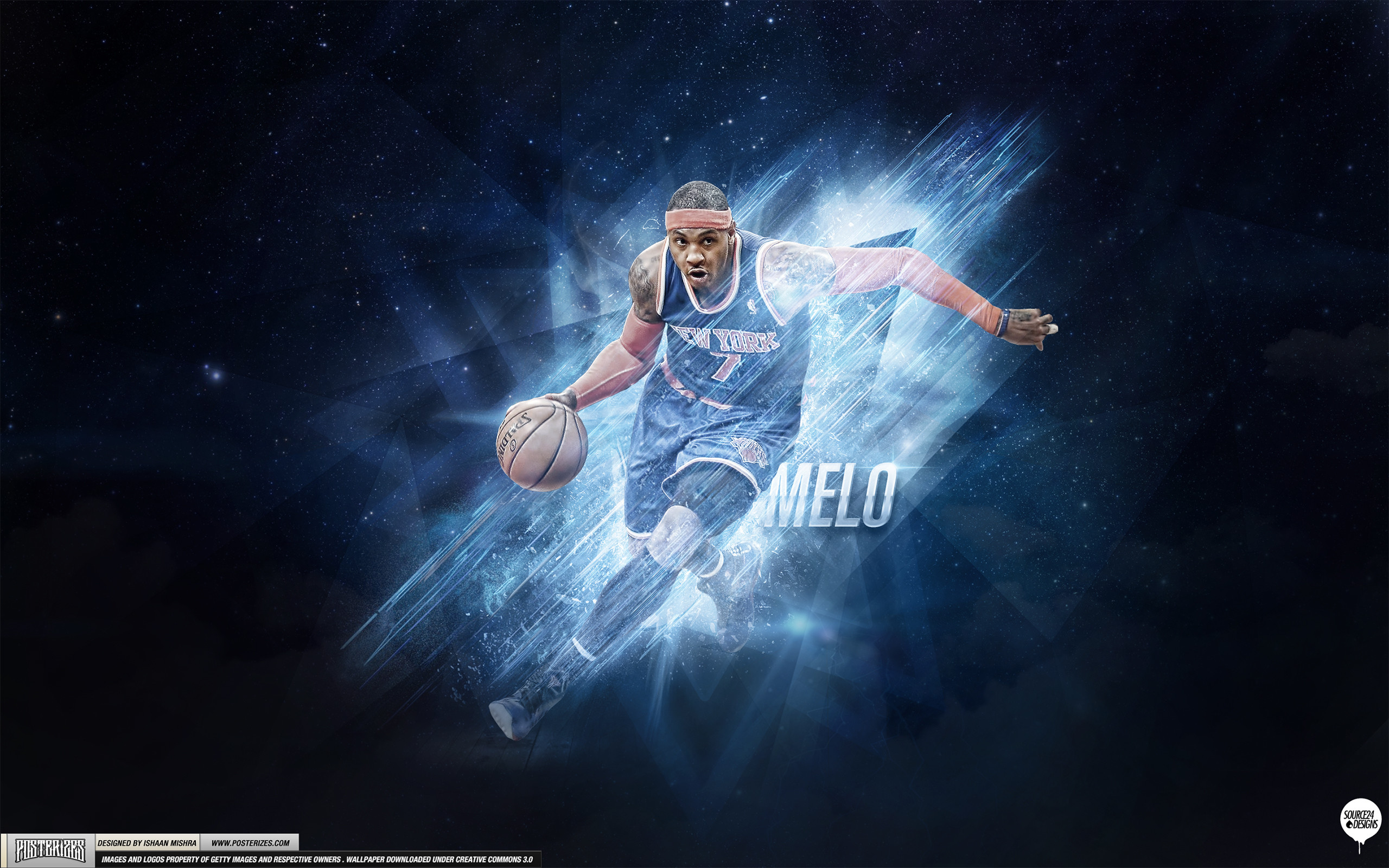 2560x1600 Carmelo Anthony – 'Playoff Push' (WALLPAPER)