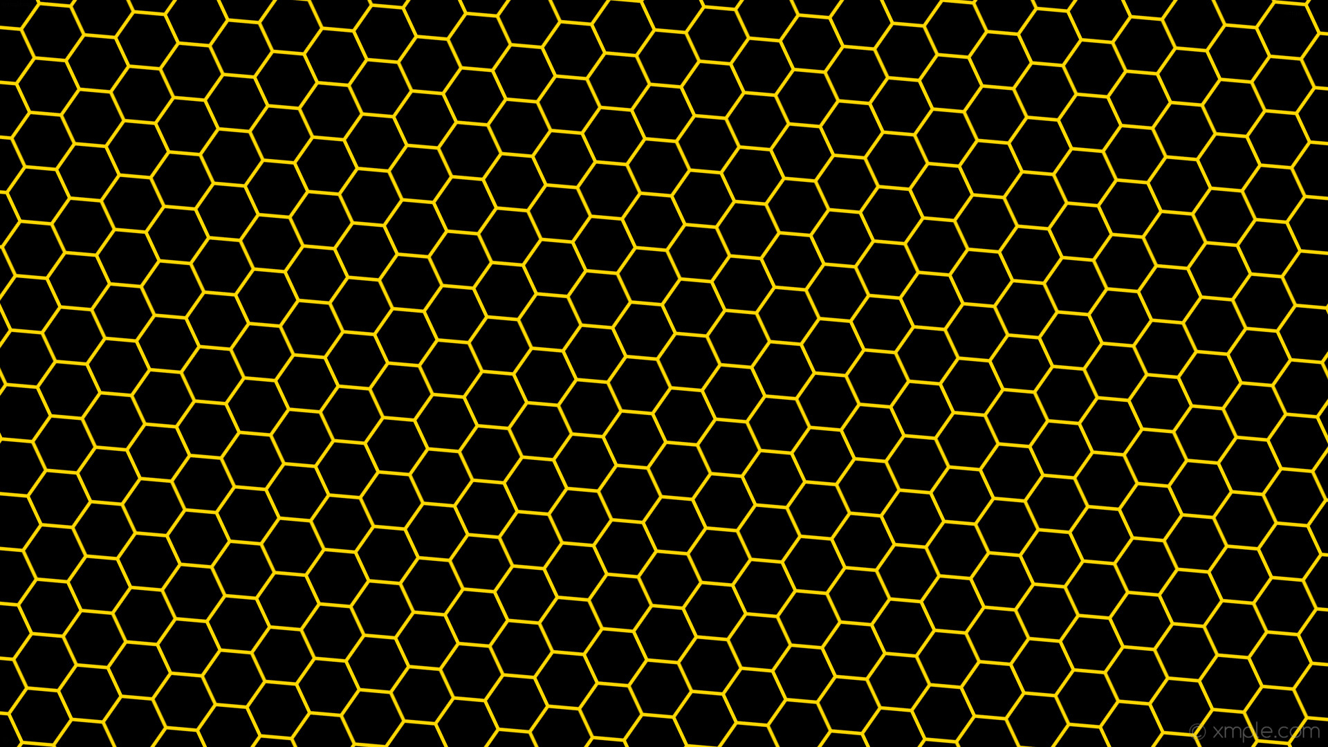 Abstract black hexagon pattern on yellow neon background ... |Yellow Honeycomb Wallpaper