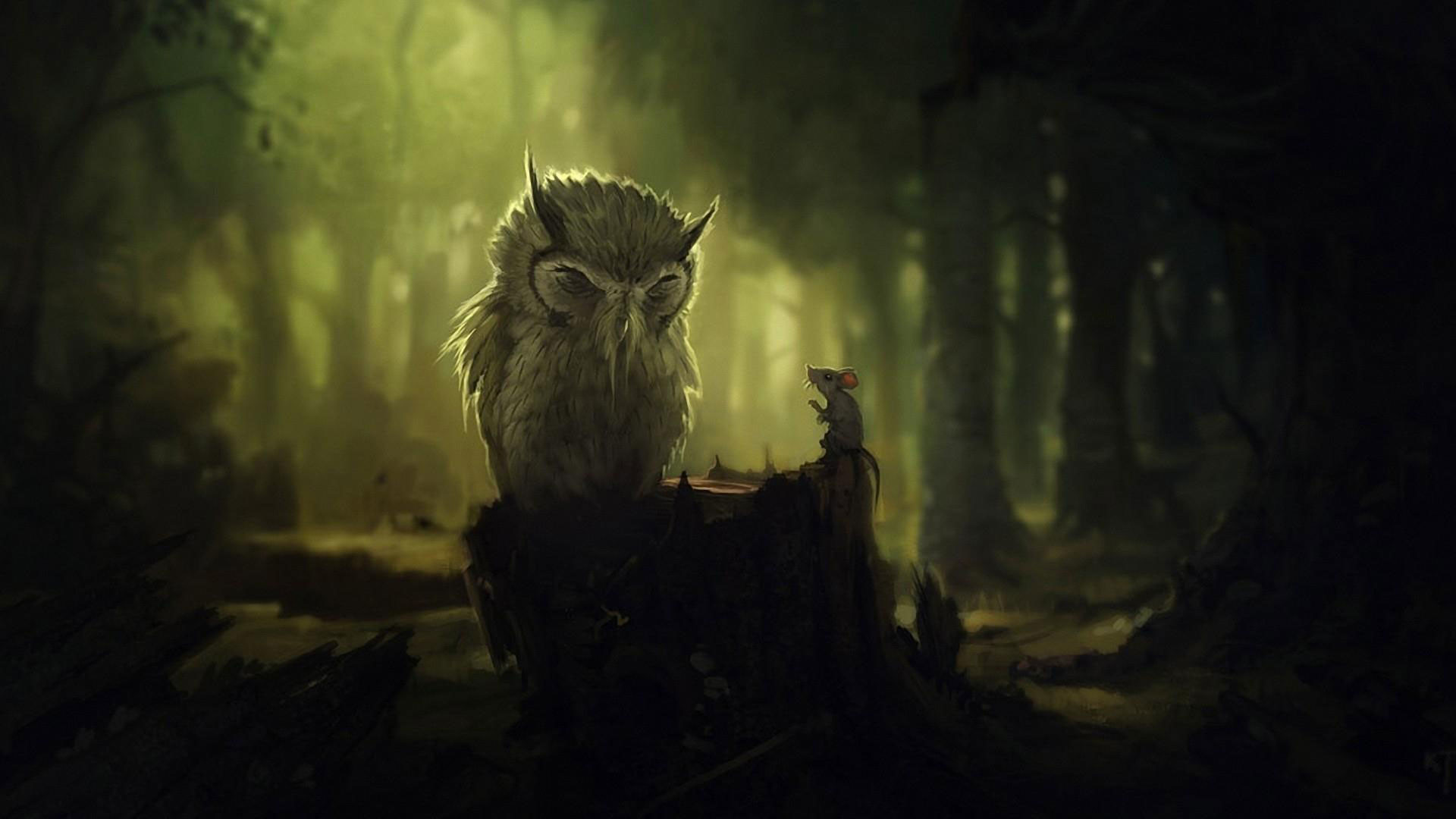 1920x1080 hd pics photos beautiful animated owl mouse rat forest attractive hd  quality desktop background wallpaper