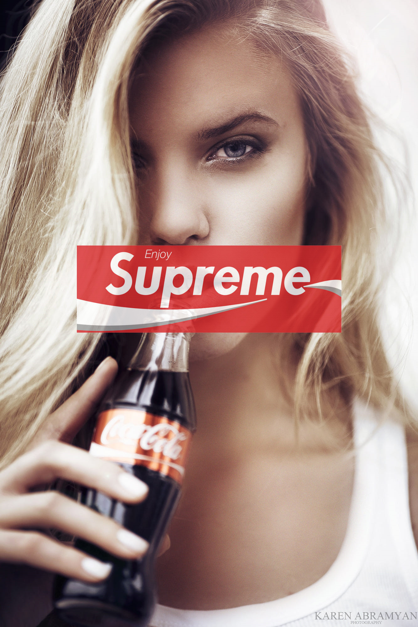 1333x2000 Supreme Coke Girl iPhone Wallpaper
