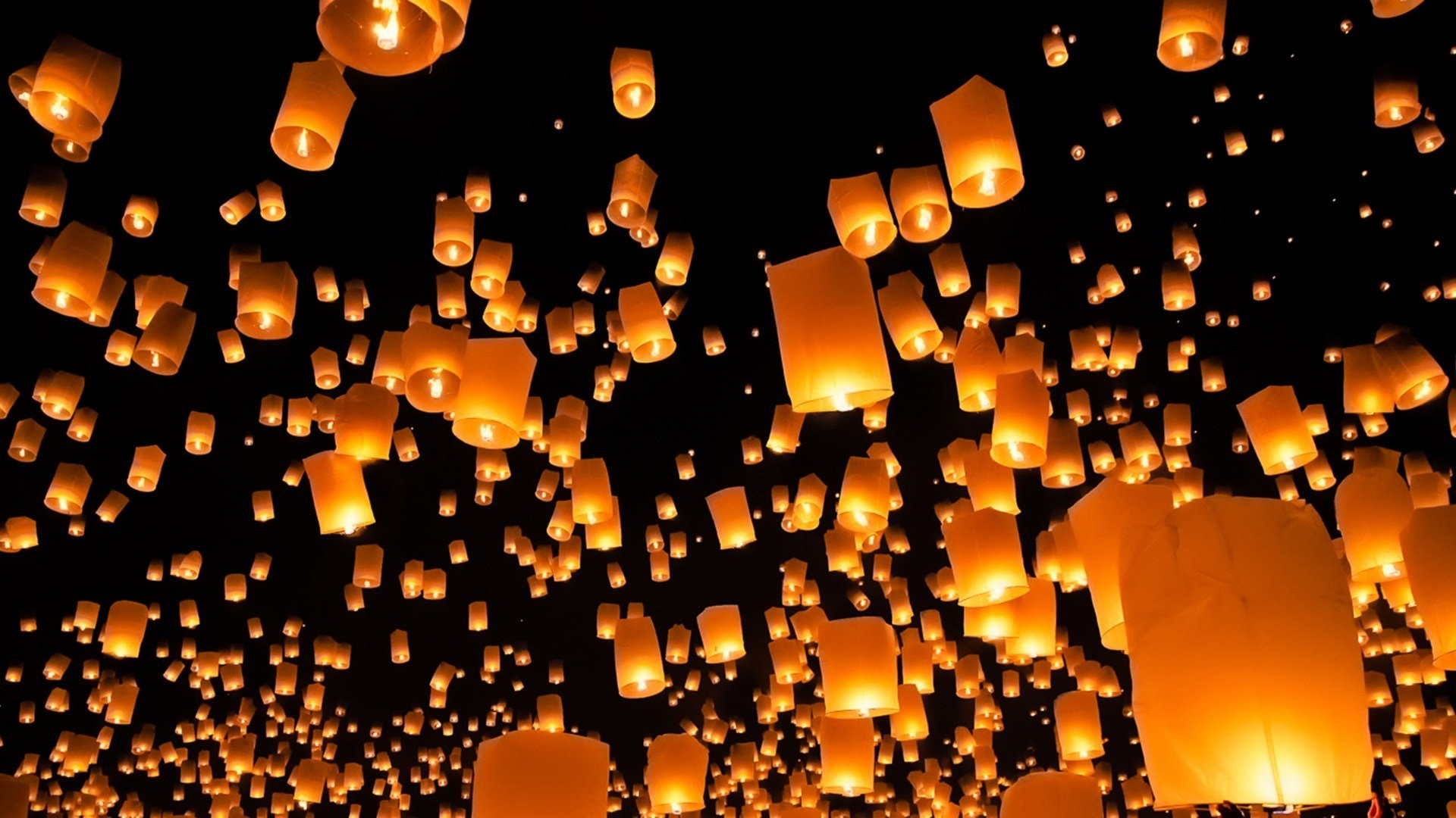 1920x1080 Candle lights flying amazing wallpapers