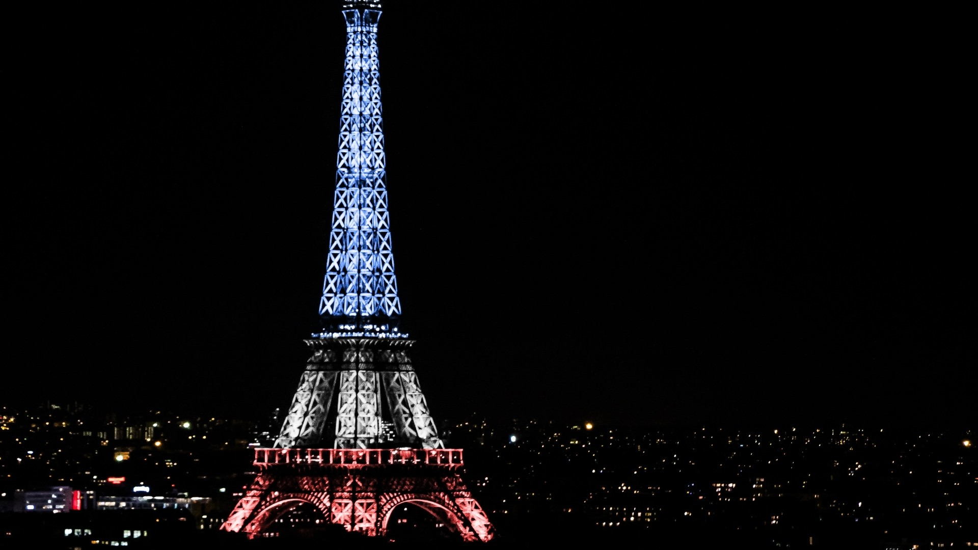 1920x1080 Preview wallpaper eiffel tower, paris, france, night