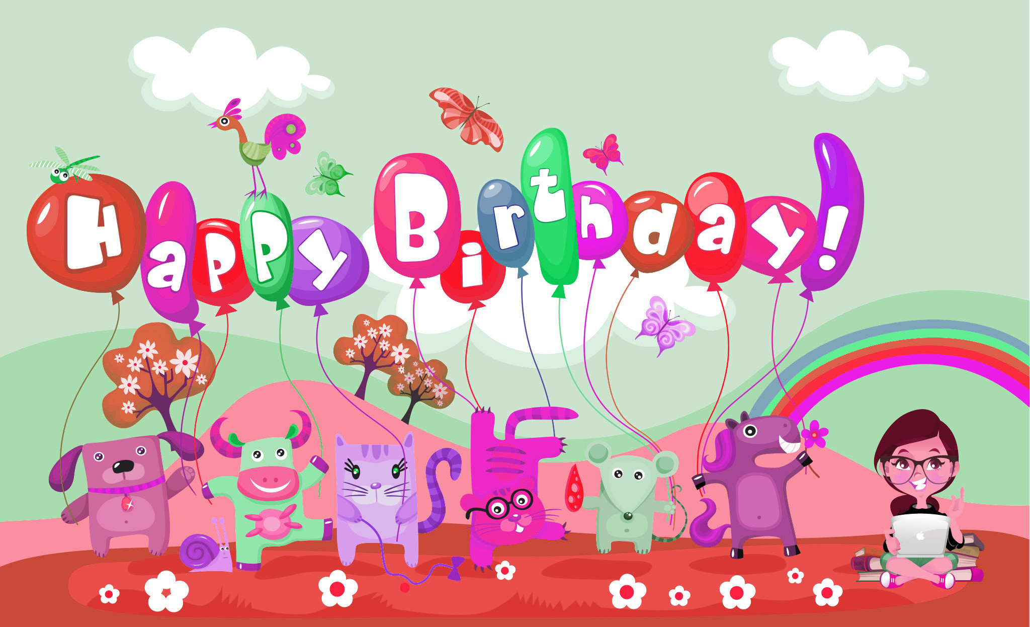 2048x1246 happy birthday - Free Large Images