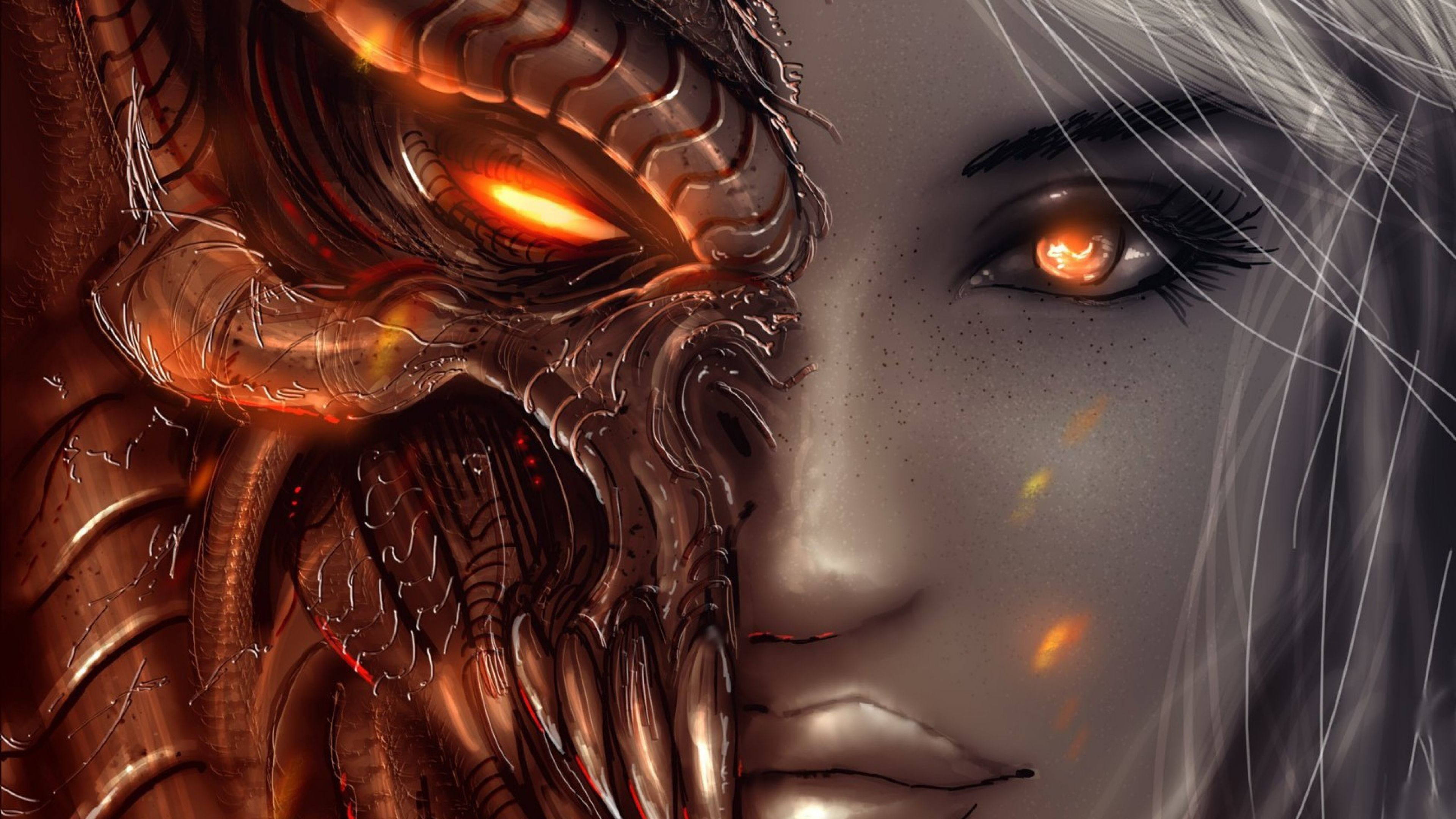 3840x2160 0 Demon Angel Wallpapers Group Demon Angel Wallpapers Group