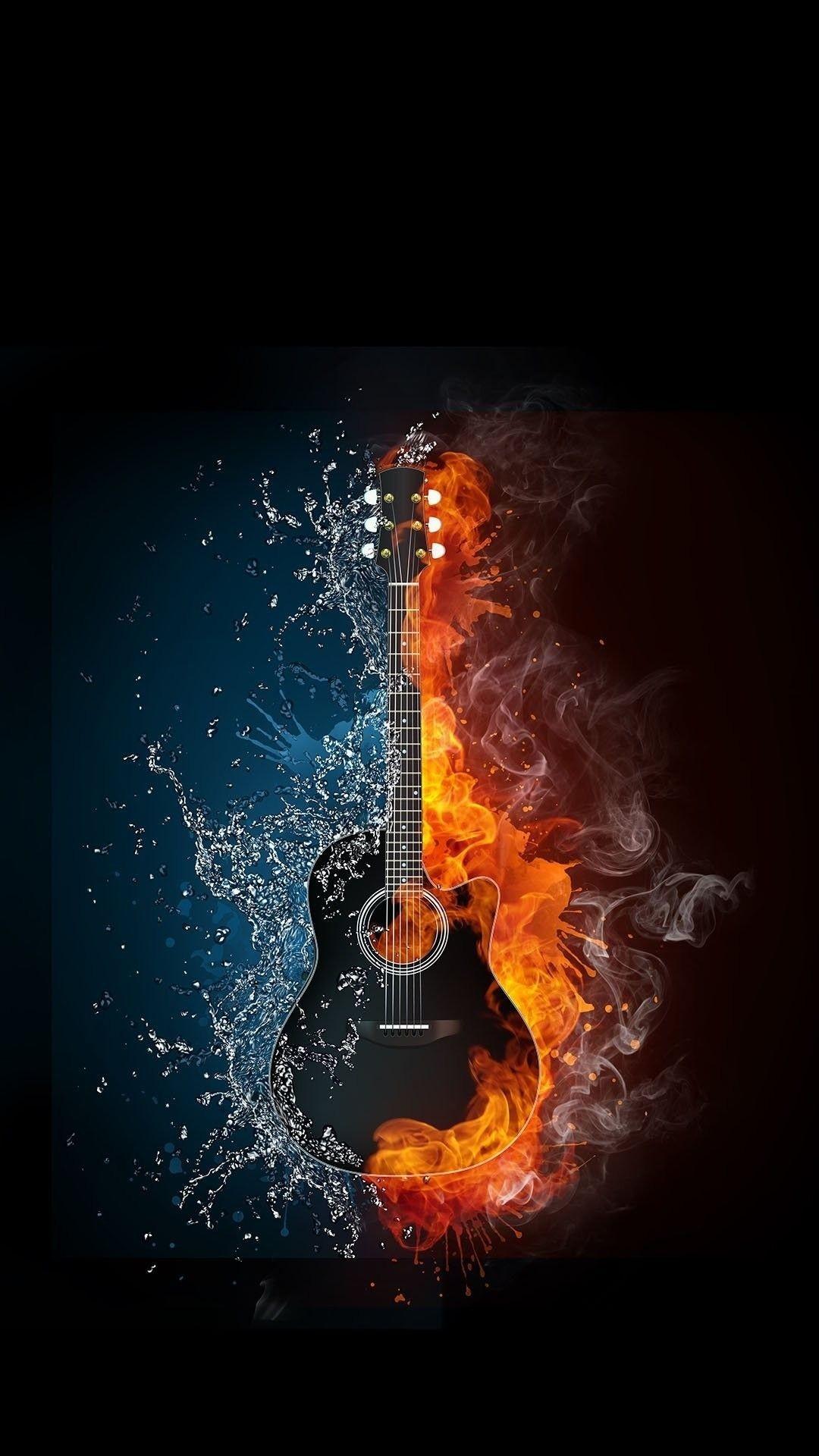 Flaming Guitar Wallpaper 73 Images