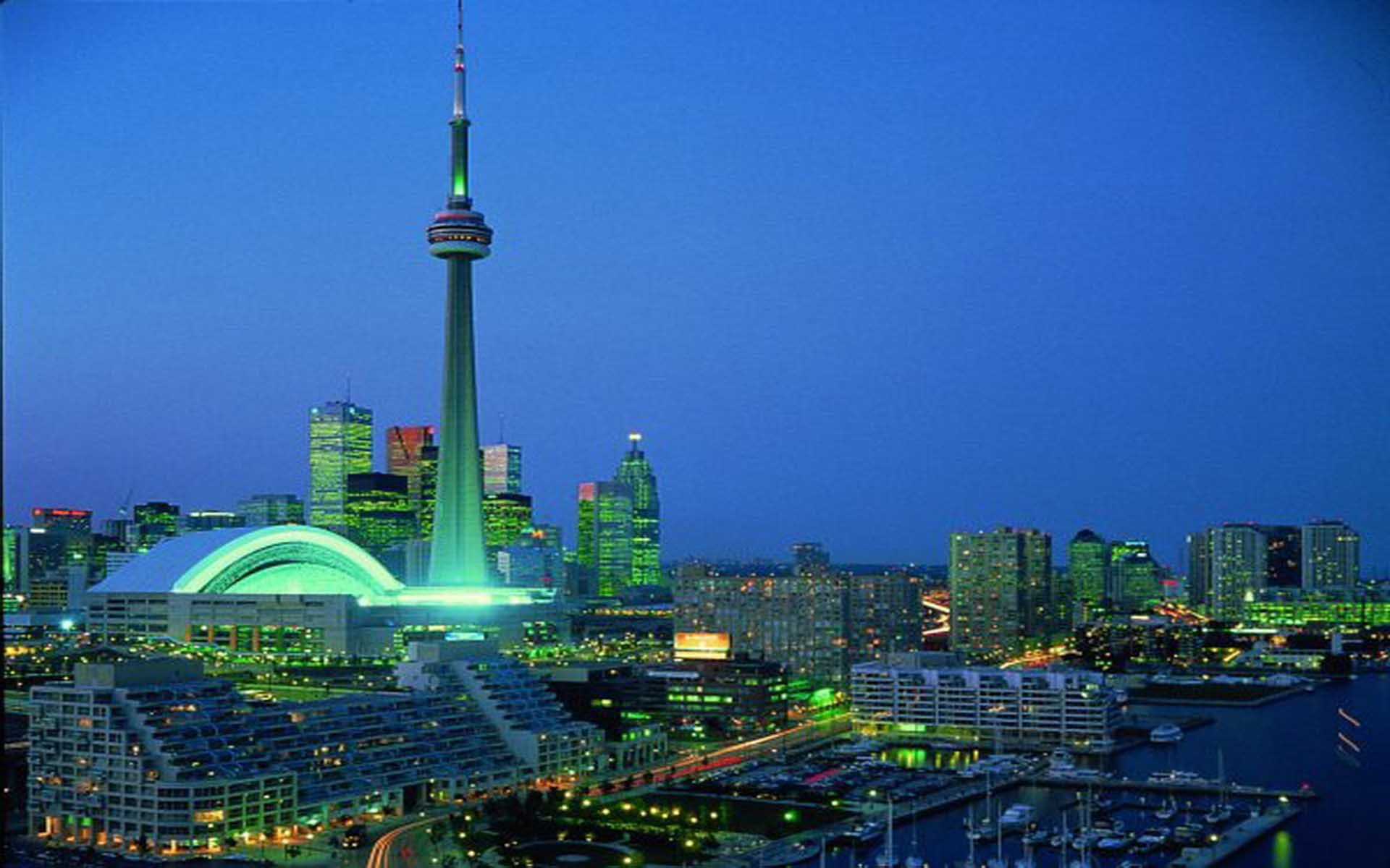 1920x1200 City Skyline Toronto Animated Images Wallpaper