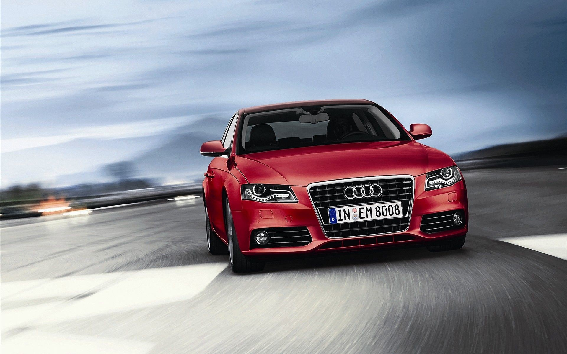 1920x1200 Audi A4 Red Cars Wallpaper Image