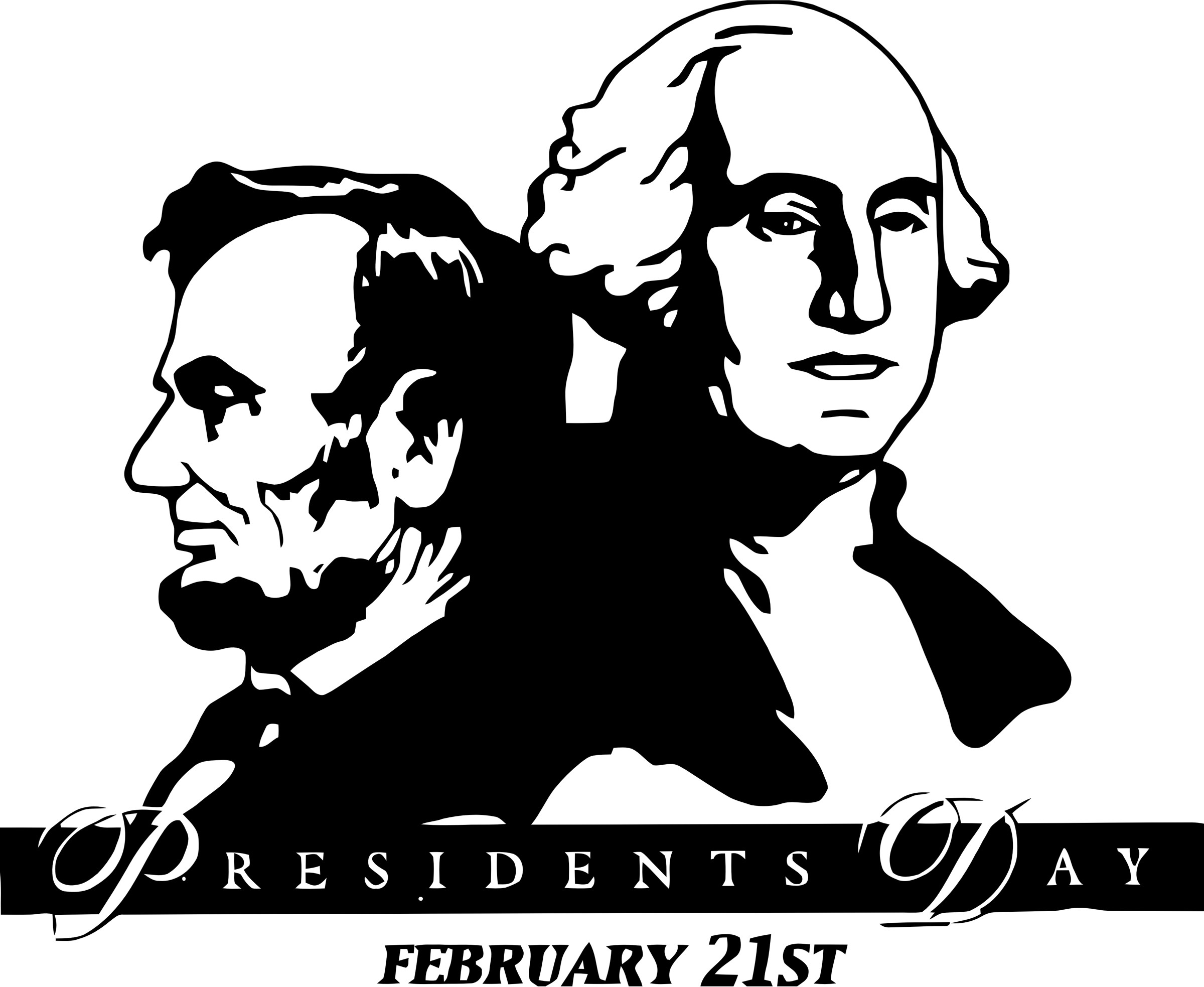 2400x1967 Washington Lincoln Presidents Day