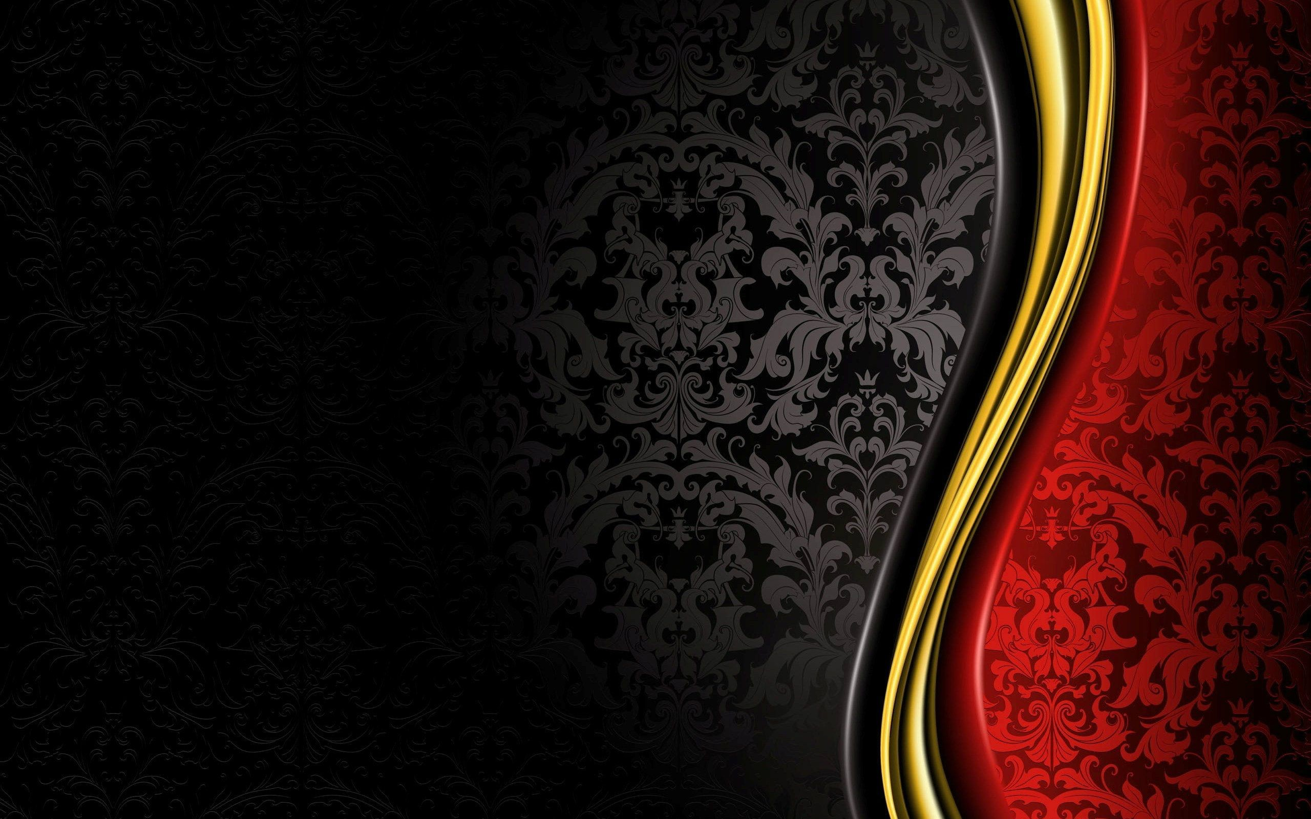 2560x1600 Black, red and yellow pattern background wallpaper - 2478 |