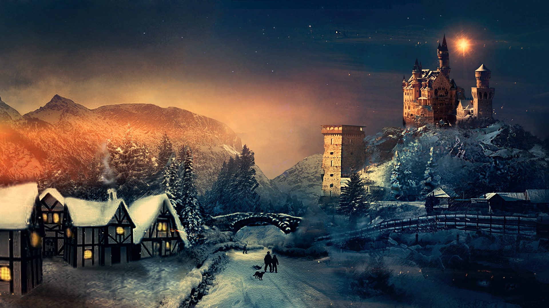 1920x1080 Author: Martina. Tags: Christmas Winter. Description: Download Christmas Winter  wallpaper from the above HD Widescreen ...