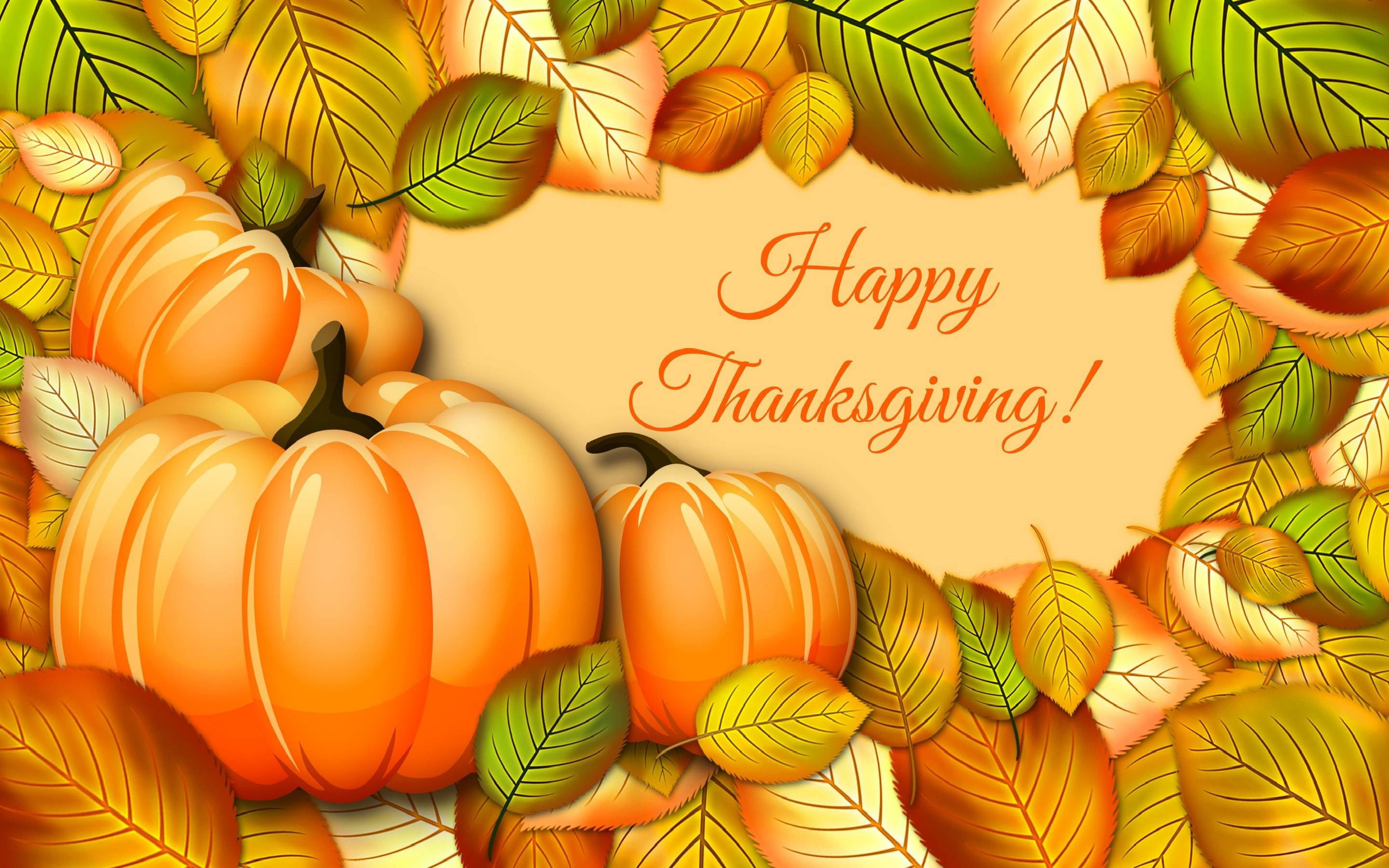 2880x1800 Happy Thanksgiving Leaves Autumn Fall 3d Cg wallpaper #