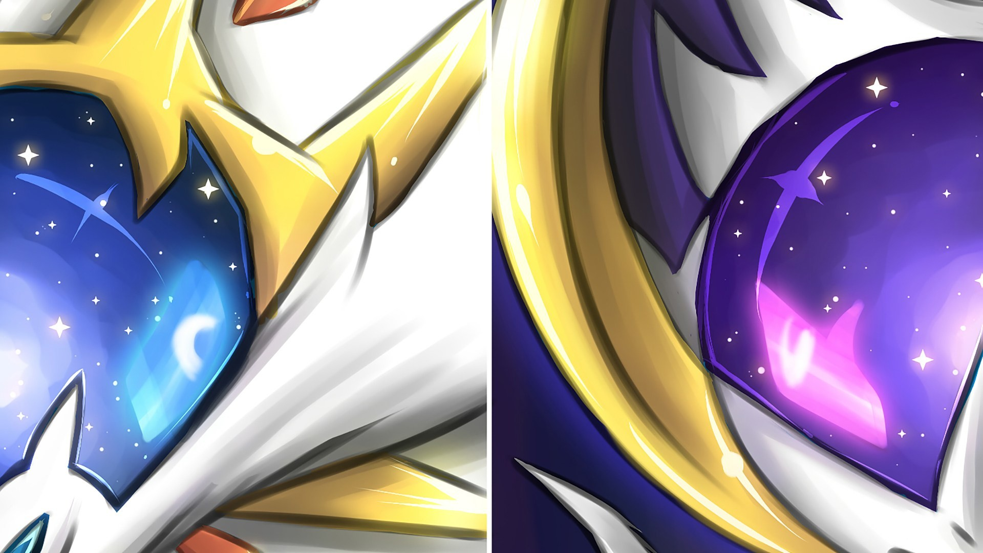 1920x1080 Solgaleo Pokemon Sun and Moon Pokemon Lunala 1080p HD Wallpaper Background