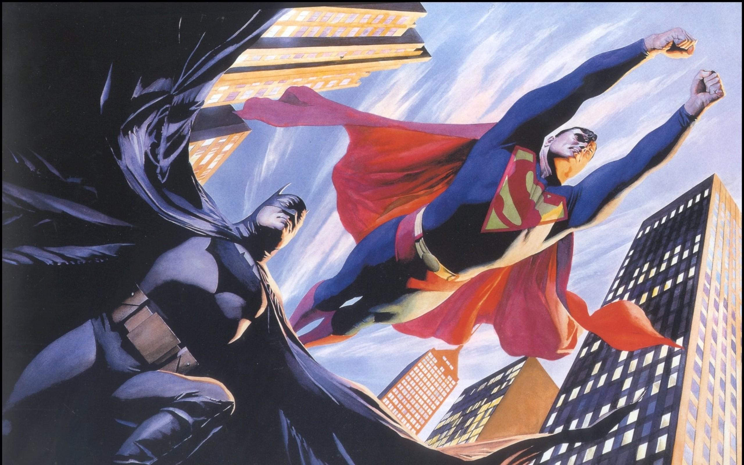 2560x1600 Batman Dc Comics Superman Superheroes Alex Ross 1746x1110 Wallpaper Art HD