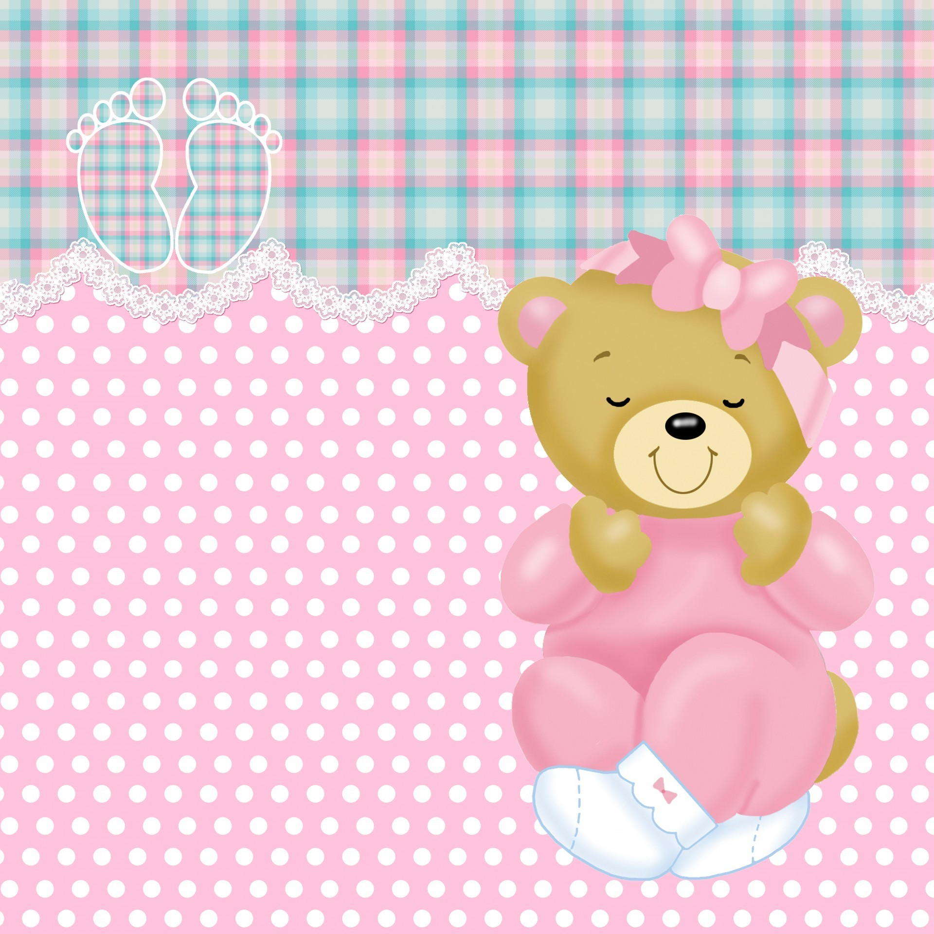 1920x1920 New Baby Girl Pink And Gingham