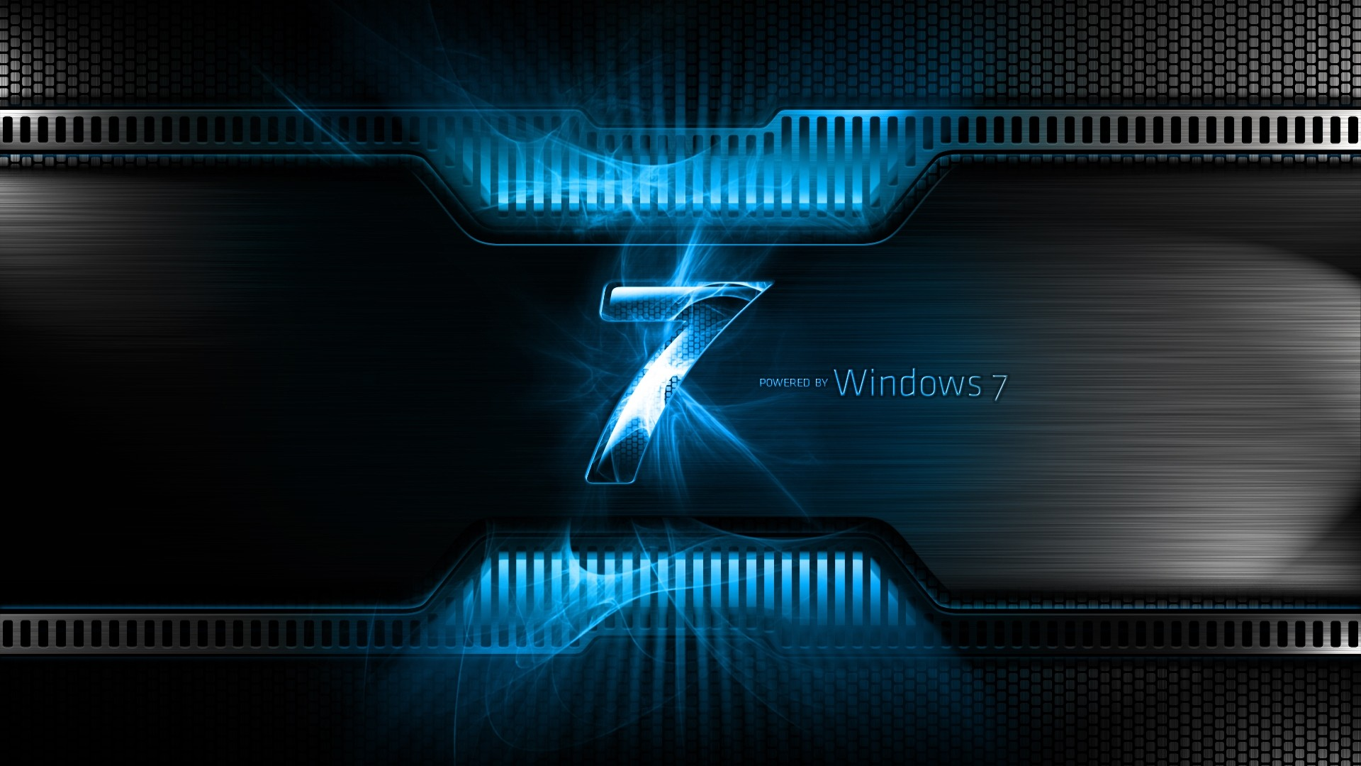 1920x1080 Preview wallpaper windows 7, blue, black, logo, light
