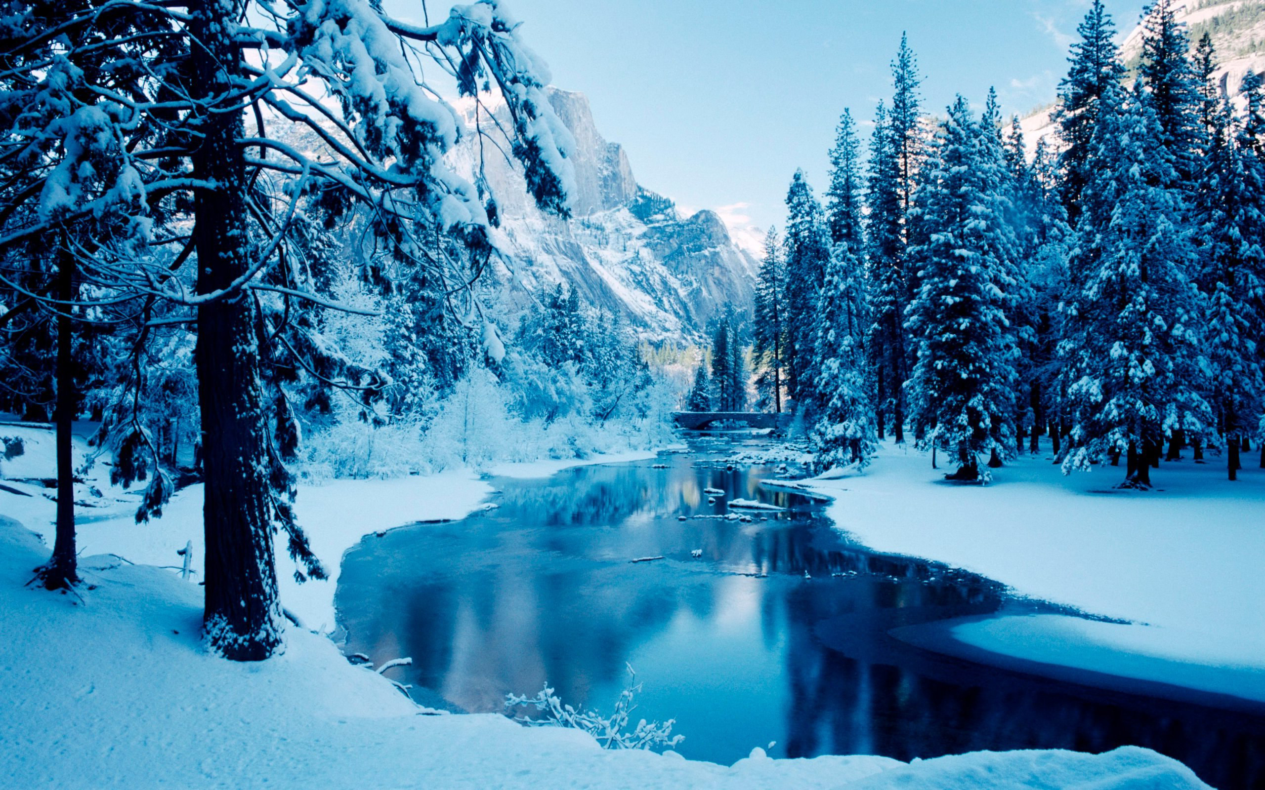 2560x1600 Windows Wallpaper Winter Scene Pictures to pin on Pinterest