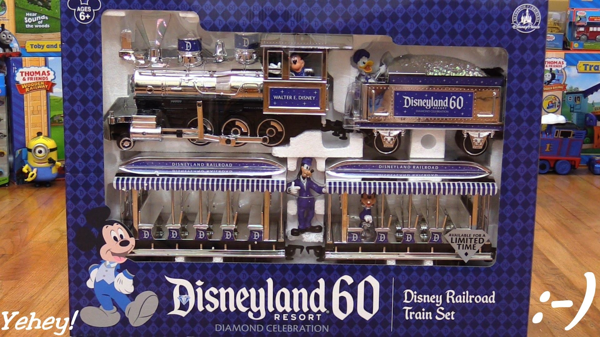 1920x1080 Disney Railroad Train Set 60th Diamond Anniversary Edition Unboxing 1 of 2  - YouTube