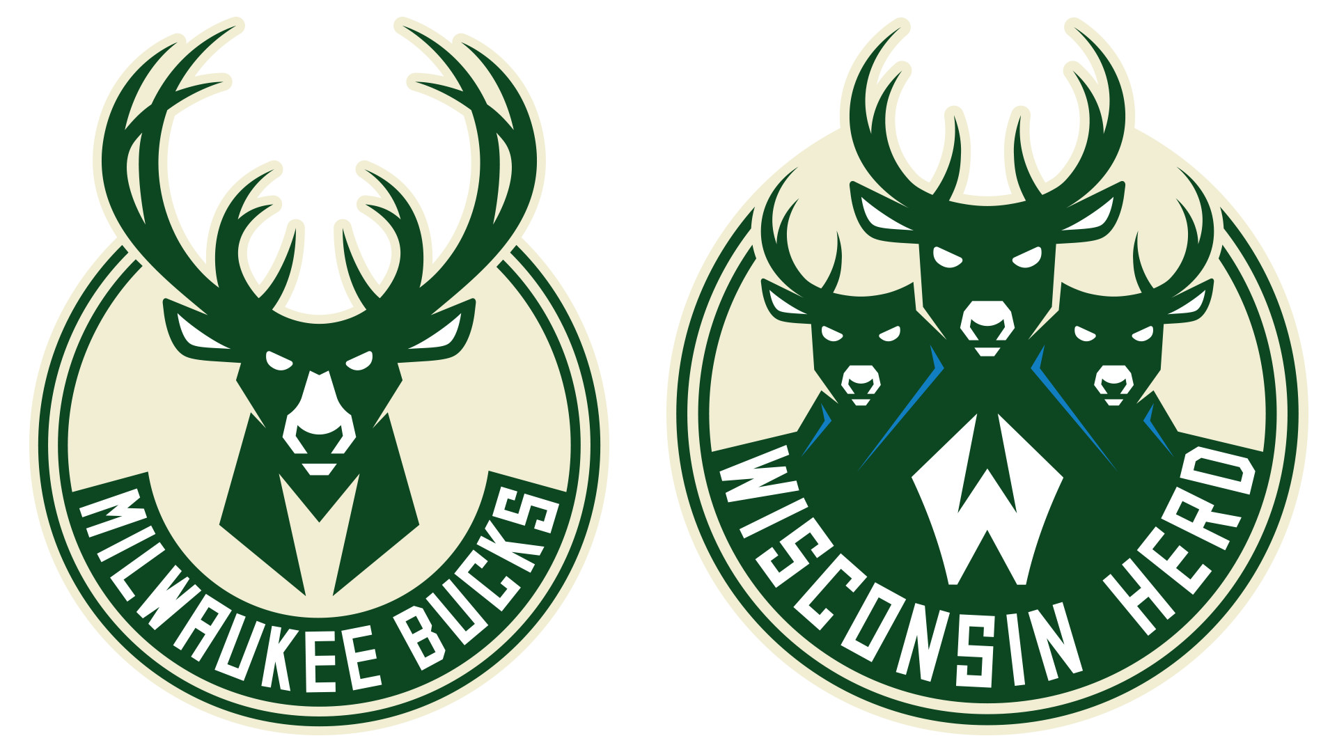 1920x1080 The Wisconsin Herd identity utilizes the visual language of the Milwaukee  Bucks' recently updated brand, illustrating their connection to their  parent club ...