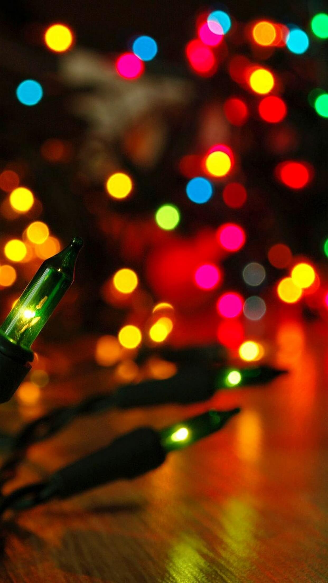 Christmas Lights iPhone Wallpaper (79+