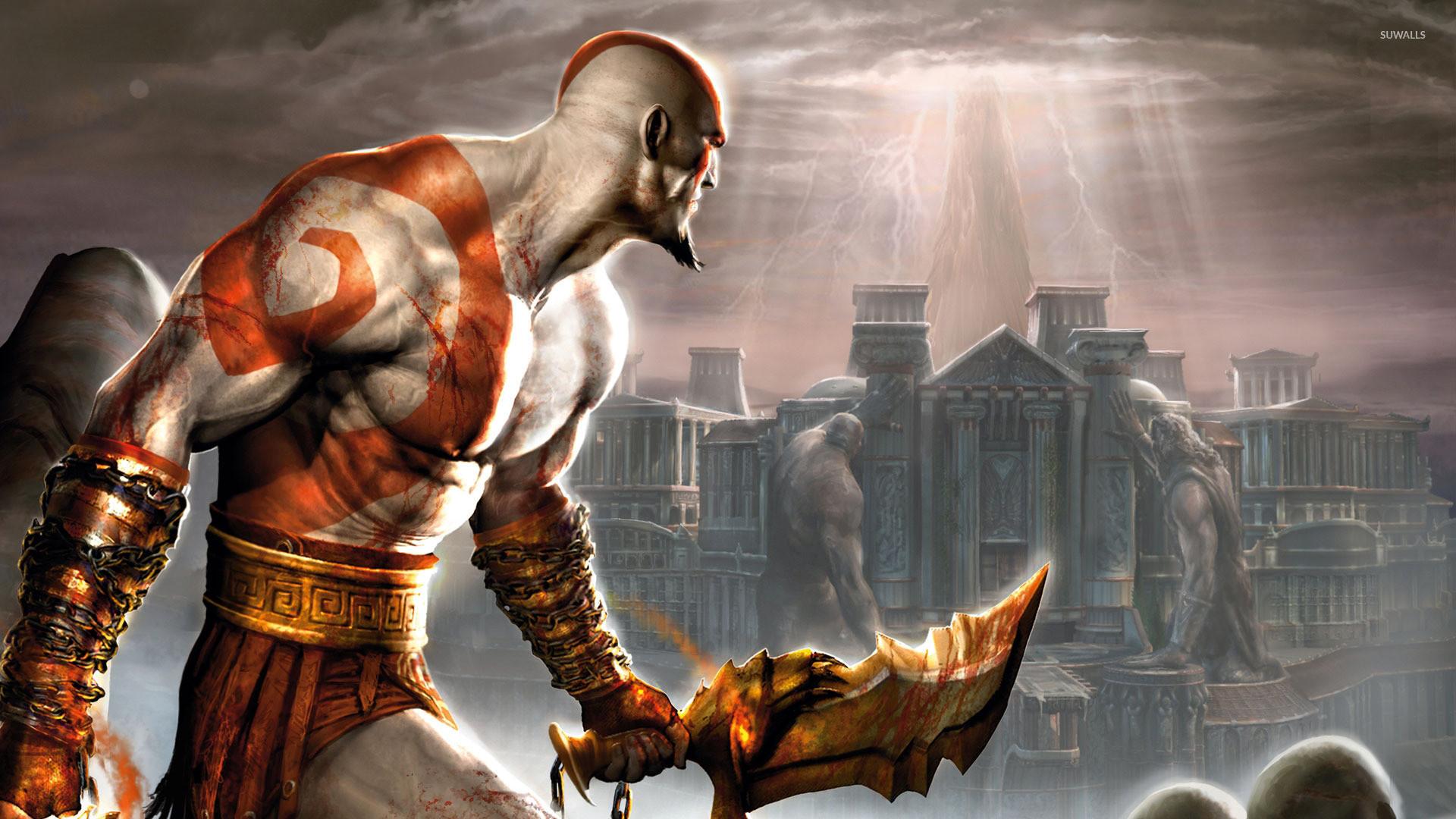 1920x1200 Kratos With A Sword