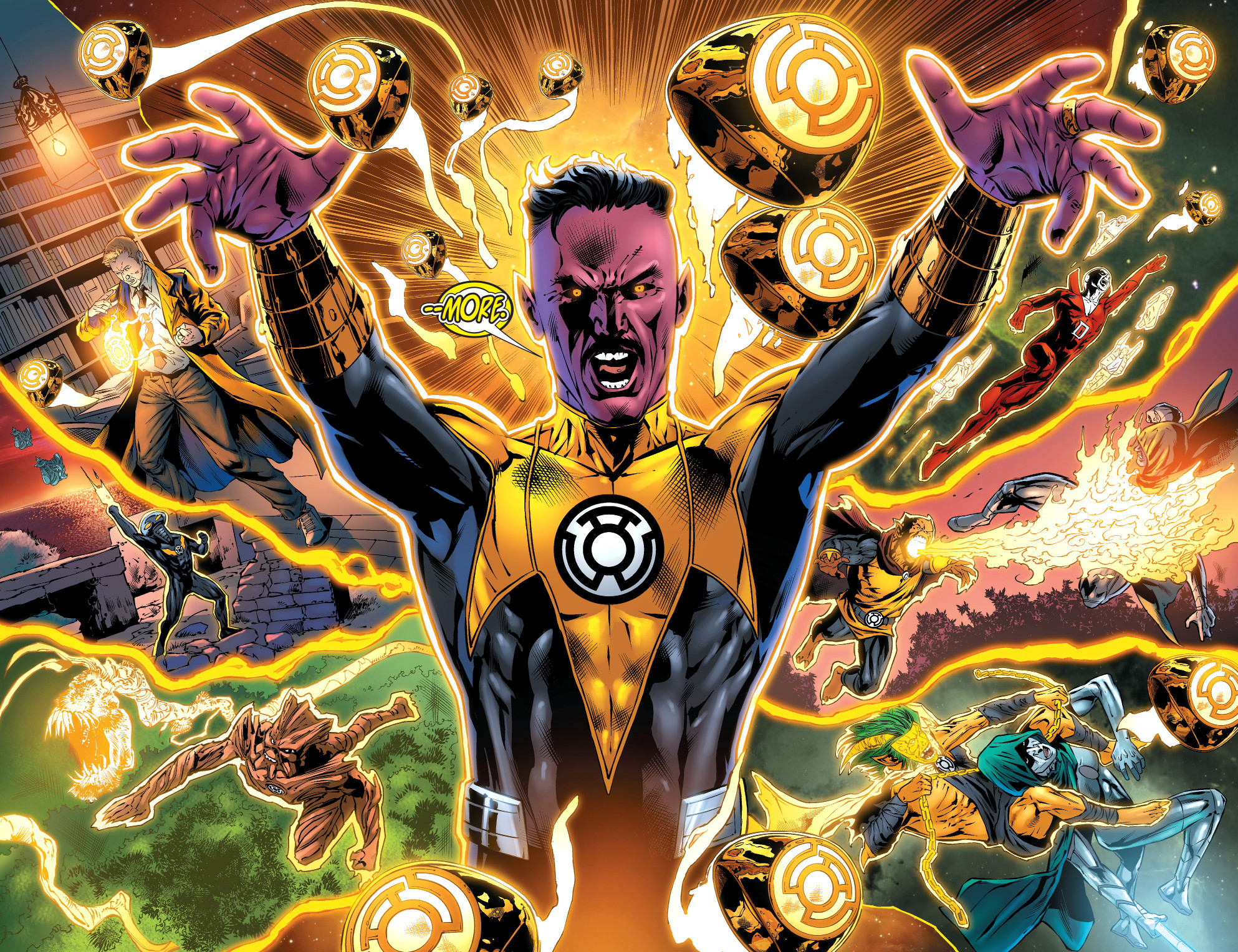 1986x1528 Nice Images Collection: Sinestro Corps Desktop Wallpapers