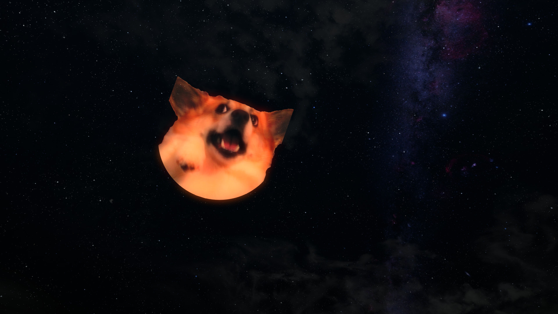 1920x1080 Doge and Corgi Moon replacer at Skyrim Special Edition Nexus - Mods and  Community