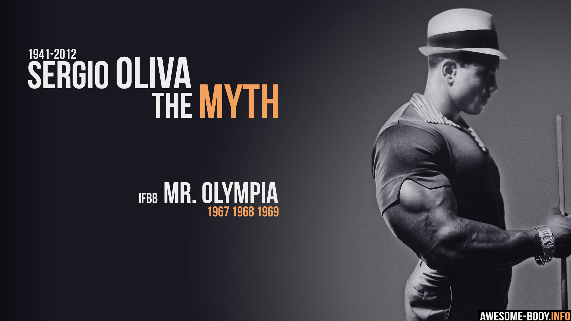 1920x1080  Sergio Oliva poster | The Myth | Bodybuilding hd wallpaper
